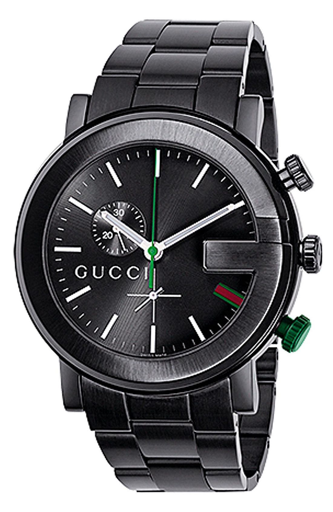 GUCCI,                             'G Chrono Collection' Watch, 44mm,                             Main thumbnail 1, color,                             001