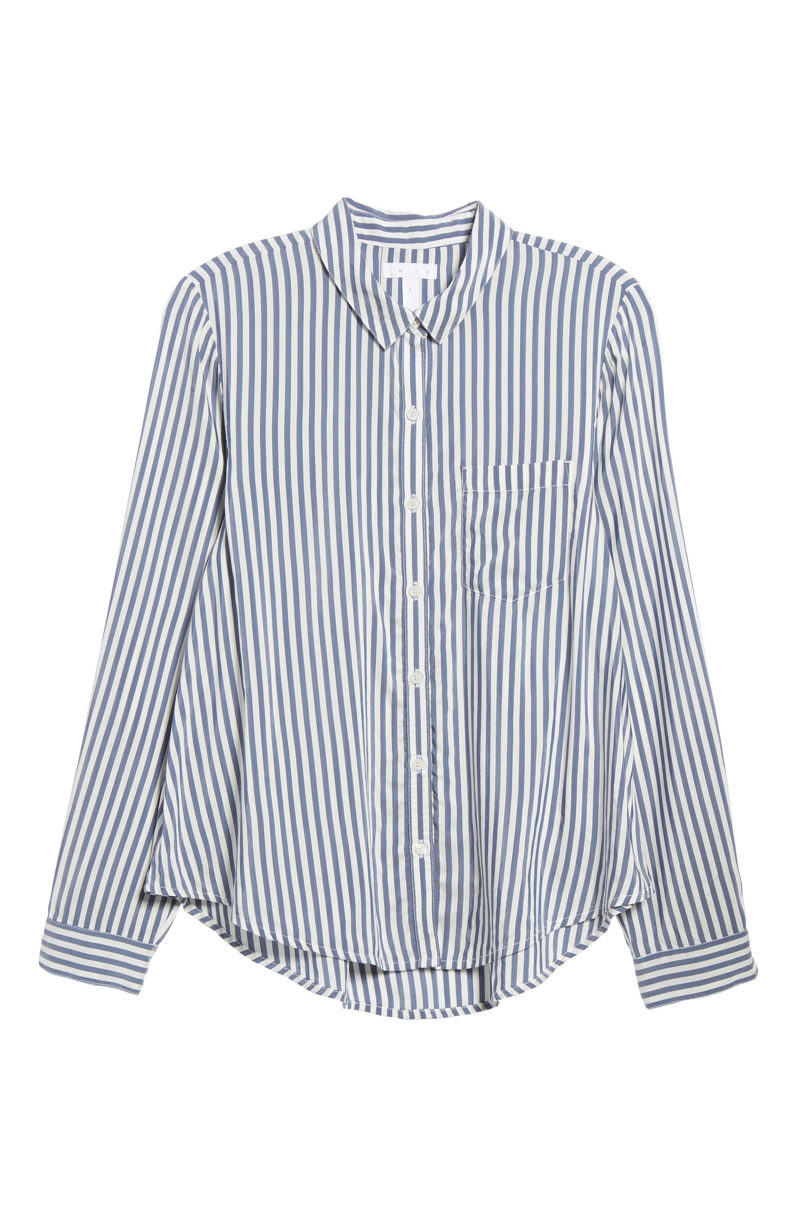 Stripe Shirt,                             Alternate thumbnail 6, color,                             410