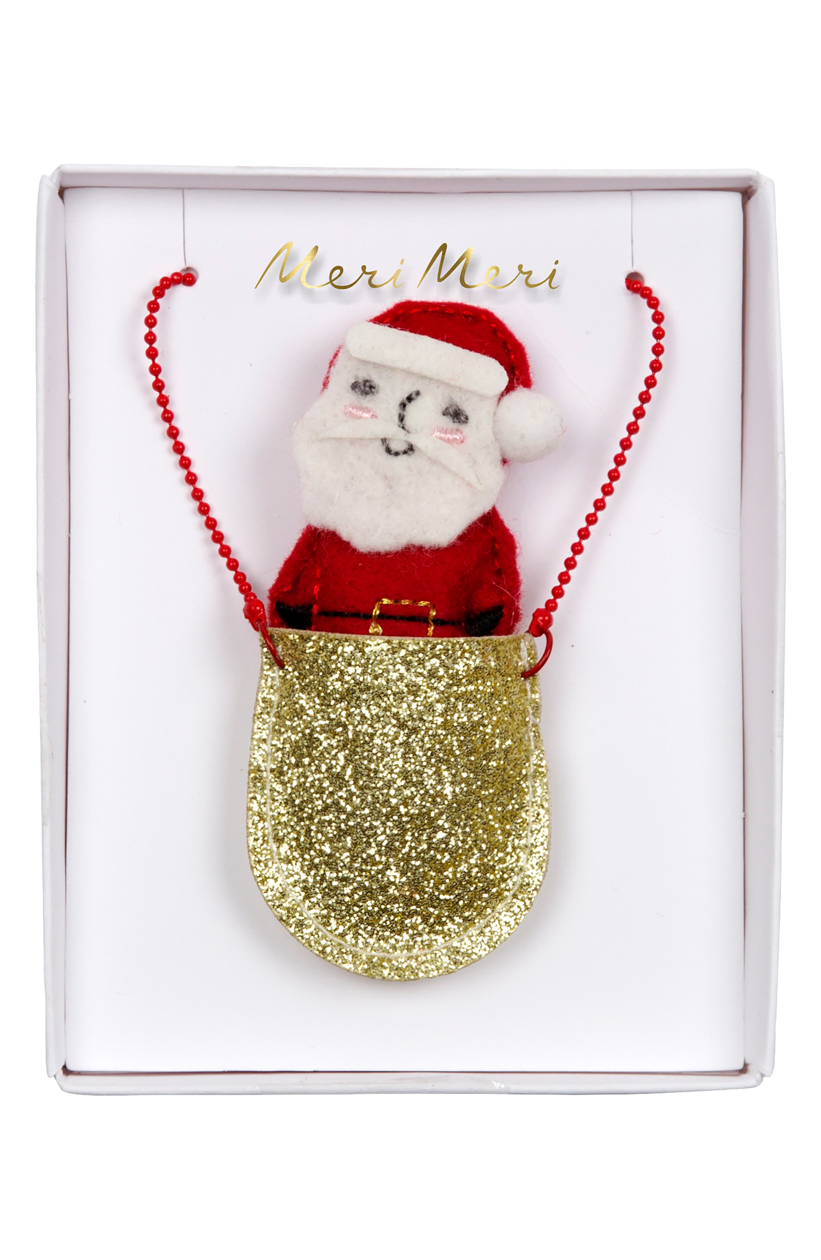 Santa Pocket Necklace,                         Main,                         color, ASSORTED COLORS