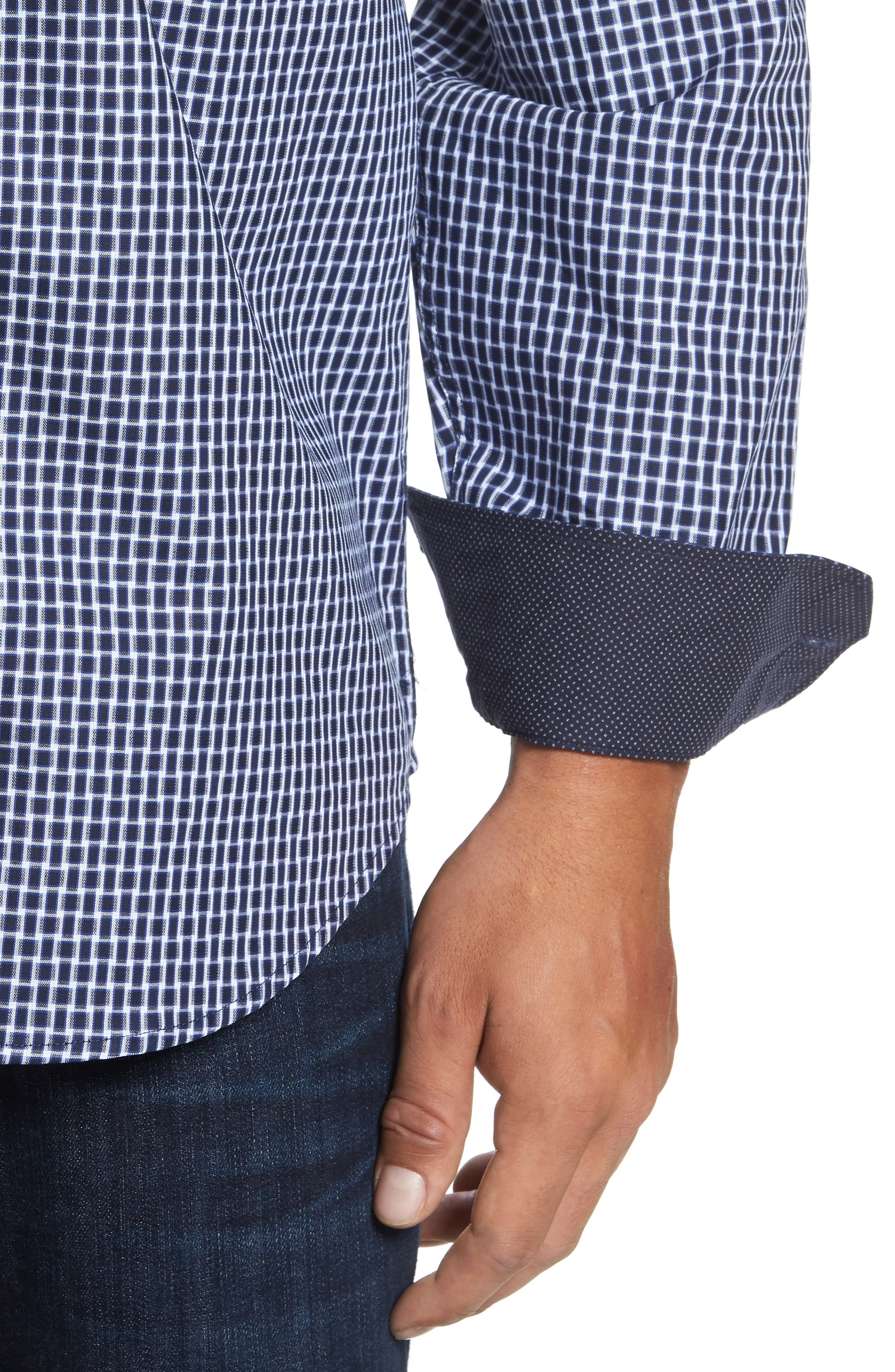Classic Fit Geo Patterned Sport Shirt,                             Alternate thumbnail 4, color,                             411