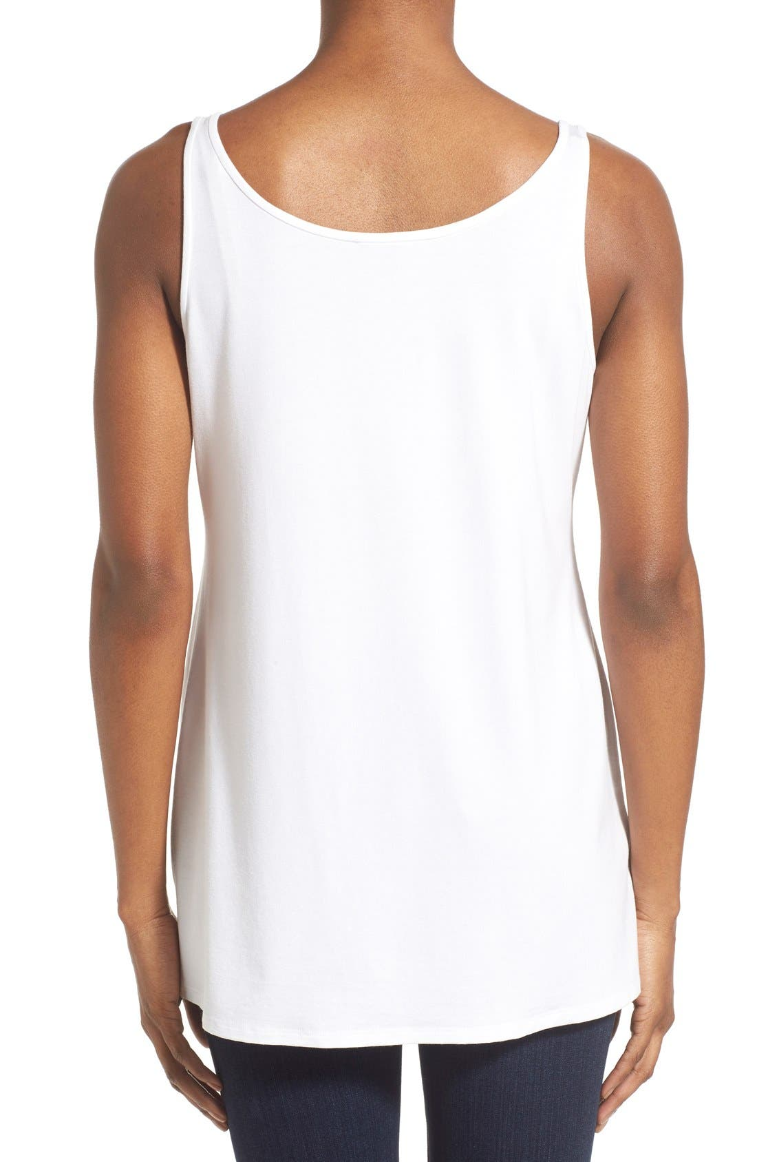Jersey Scoop Neck Long Tank,                             Alternate thumbnail 112, color,