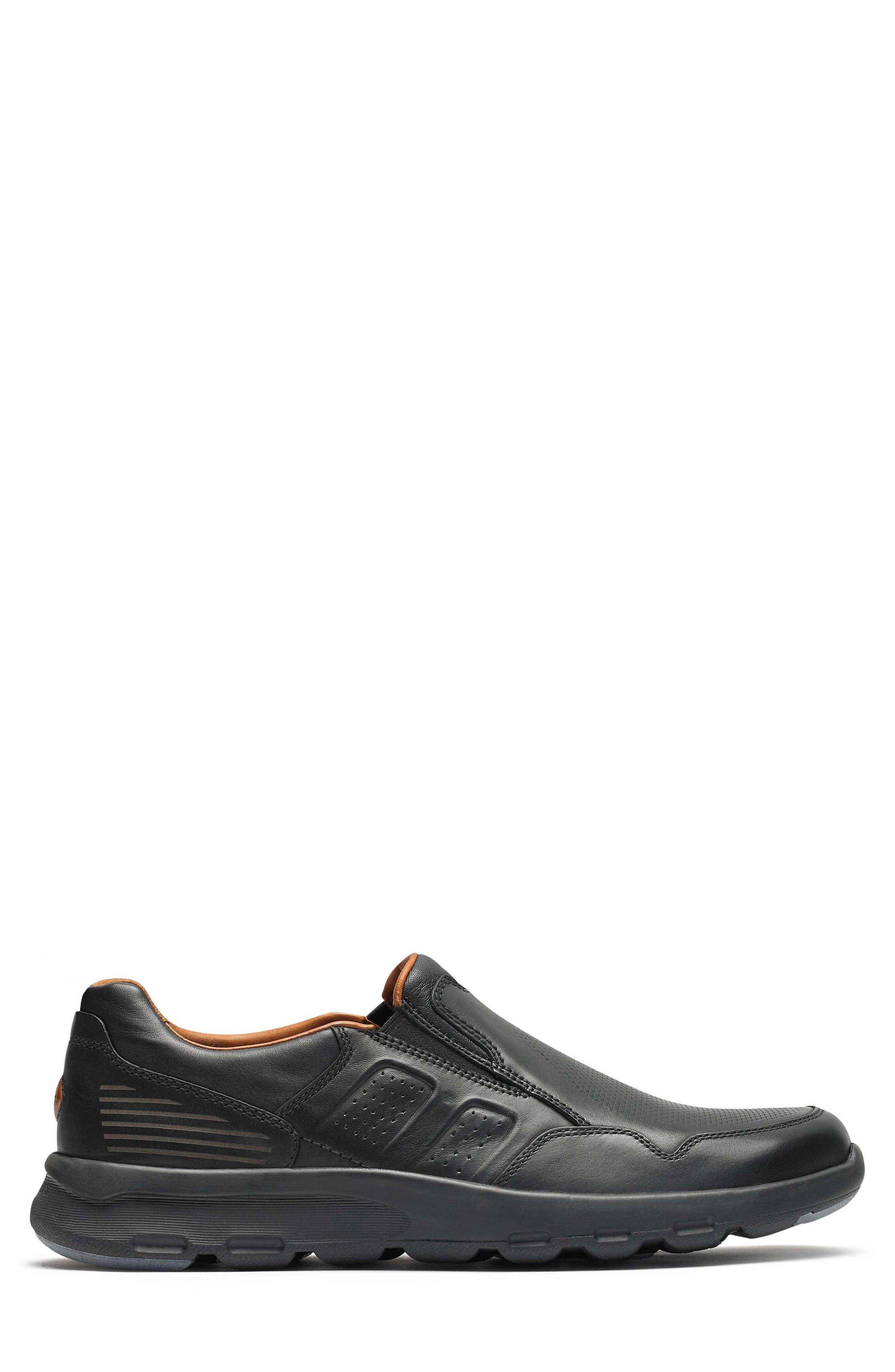 Let's Walk<sup>®</sup> Venetian Loafer,                             Alternate thumbnail 3, color,                             BLACK LEATHER