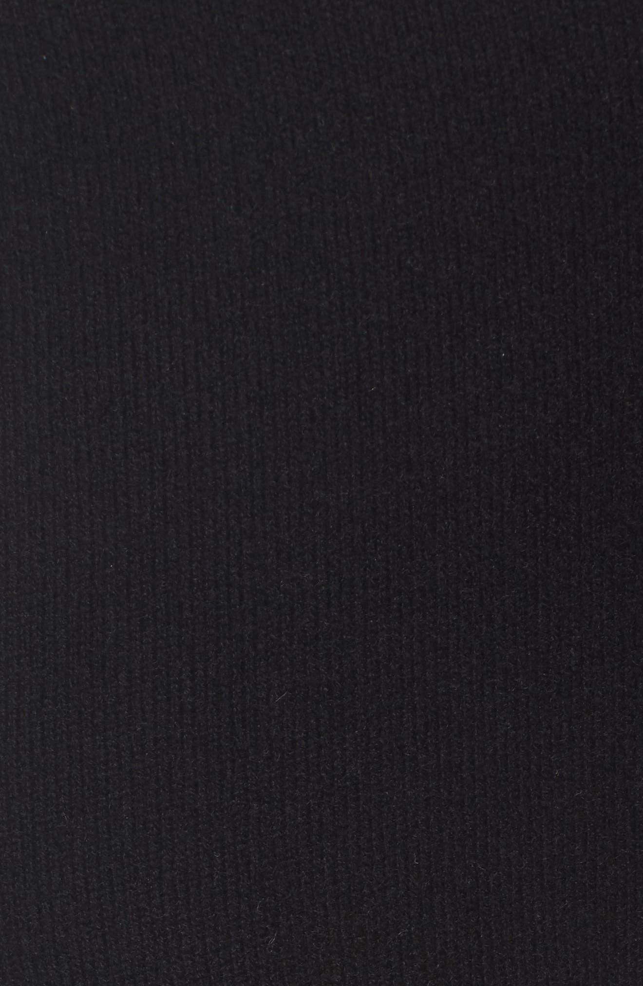 Knit Cashmere Ankle Pants,                             Alternate thumbnail 5, color,                             001