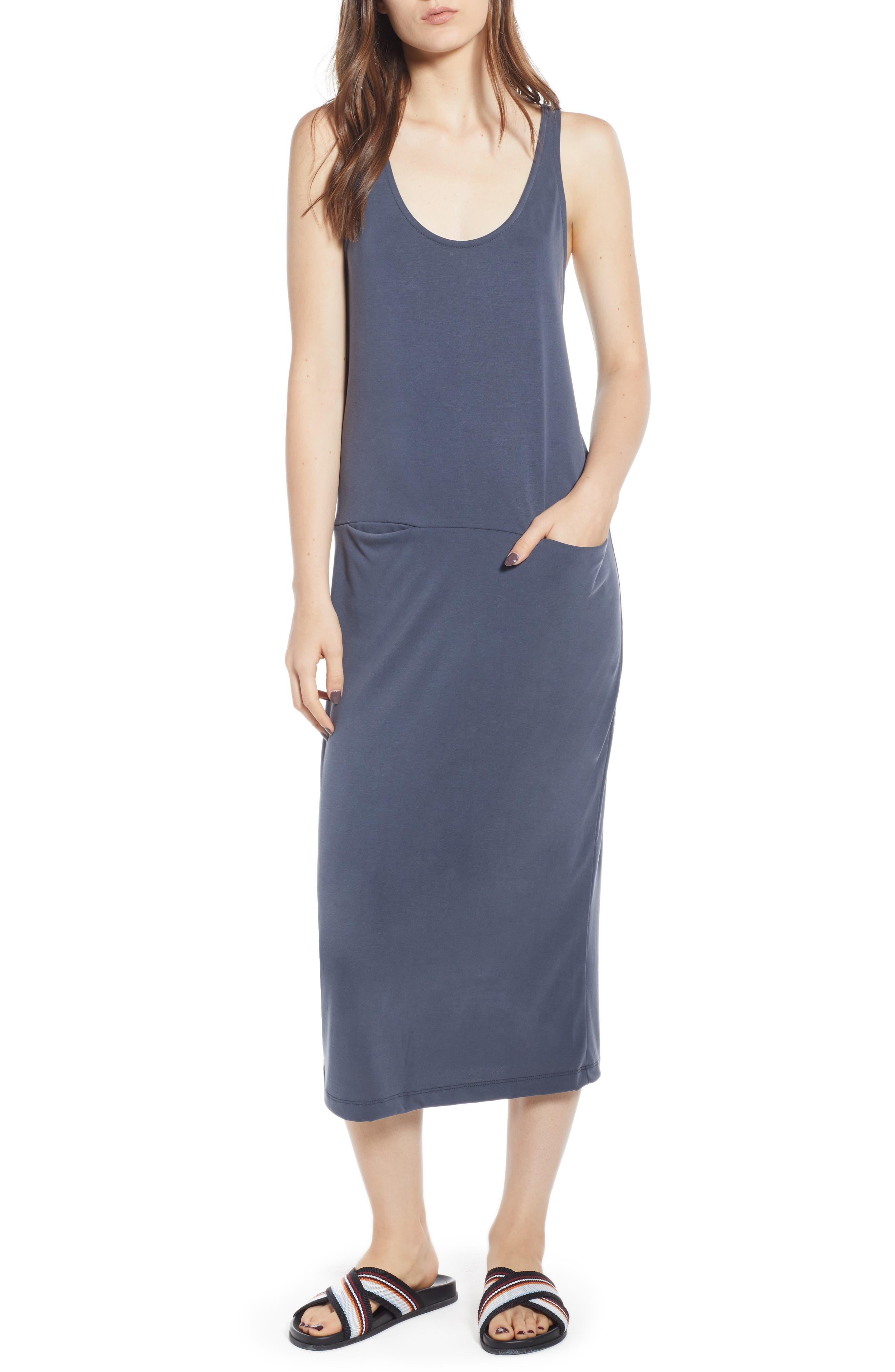 Tank Midi Dress,                             Main thumbnail 1, color,                             030
