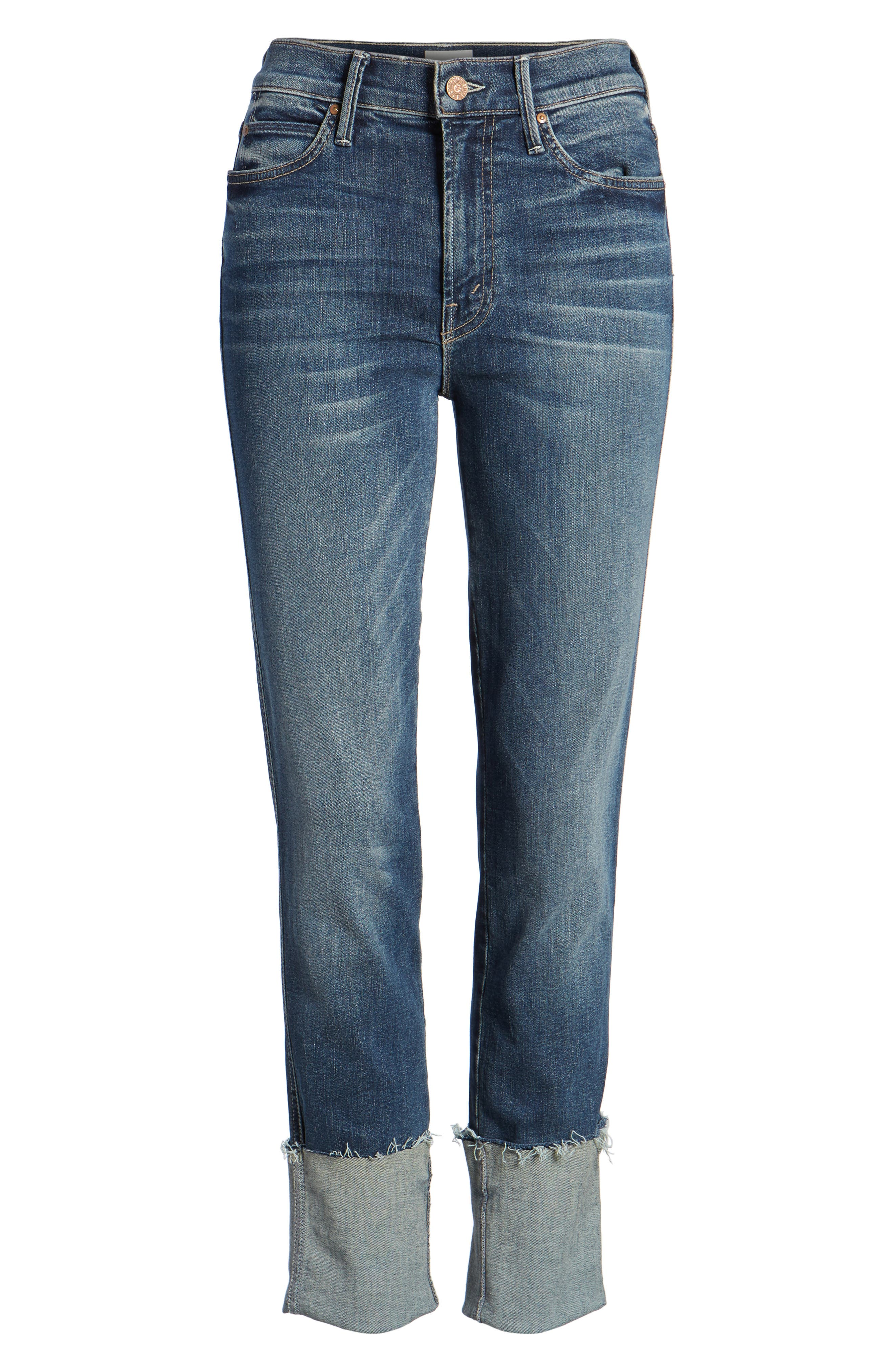 The Ponyboy Frayed Ankle Jeans,                             Alternate thumbnail 7, color,                             404