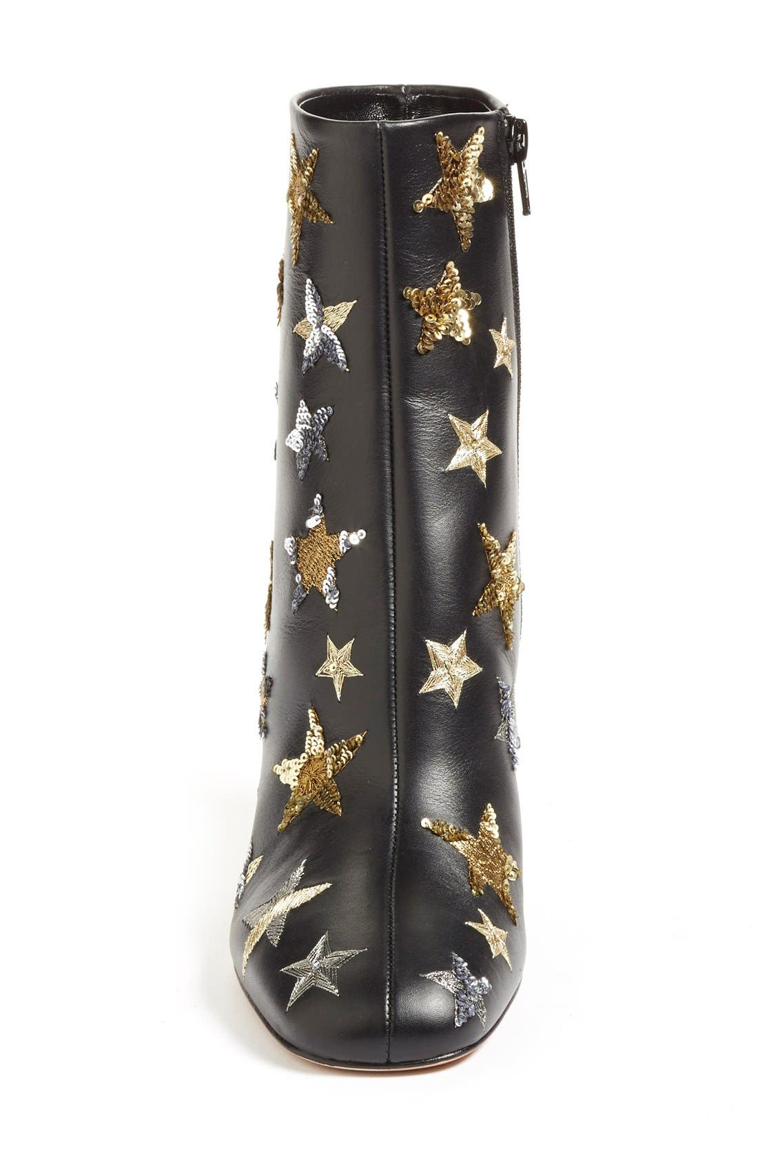 VALENTINO,                             'Star Studded' Bootie,                             Alternate thumbnail 4, color,                             002