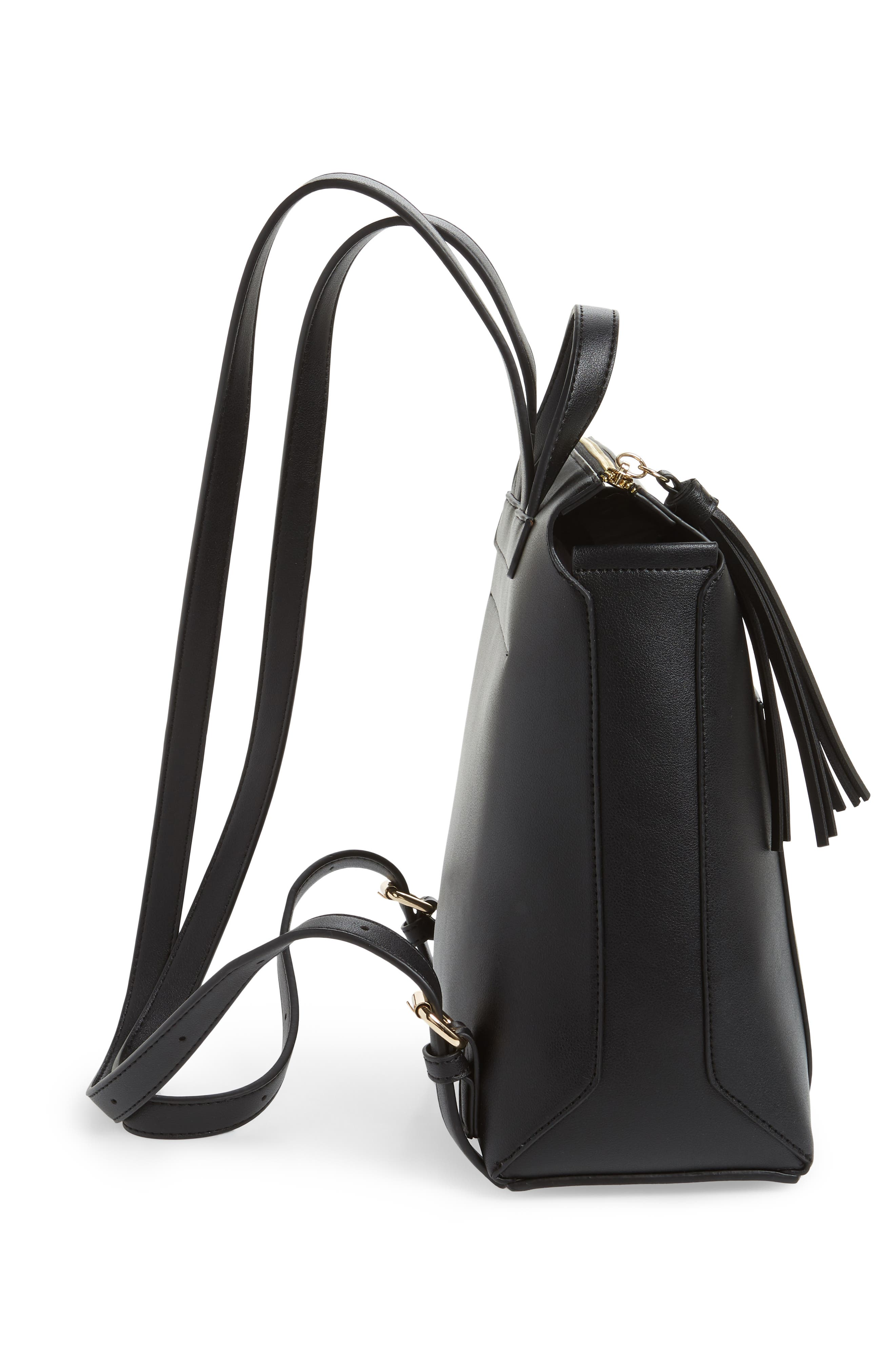 Fluri Faux Leather Backpack,                             Alternate thumbnail 5, color,                             001