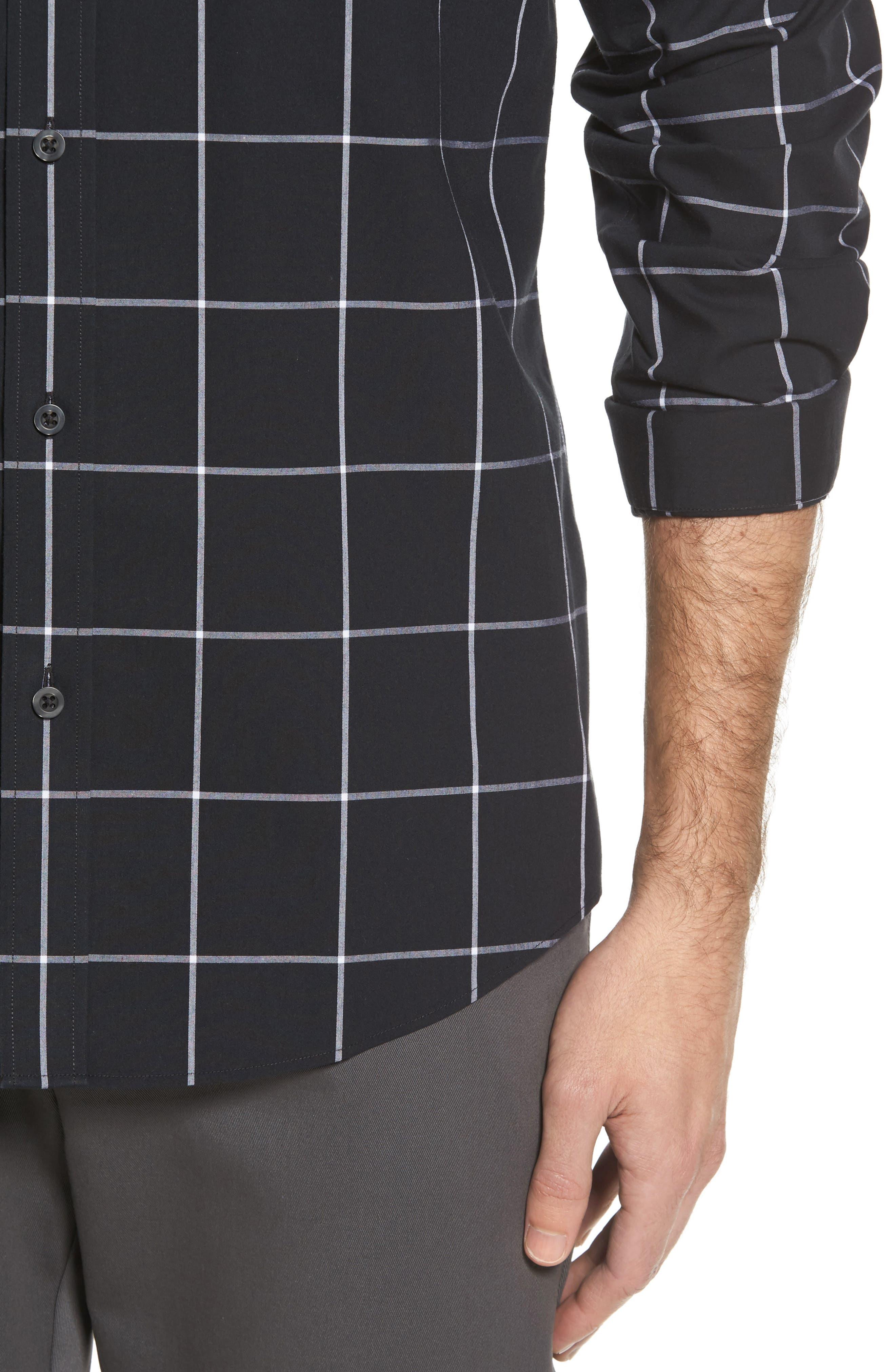 Smartcare<sup>™</sup> Regular Fit Plaid Sport Shirt,                             Alternate thumbnail 23, color,