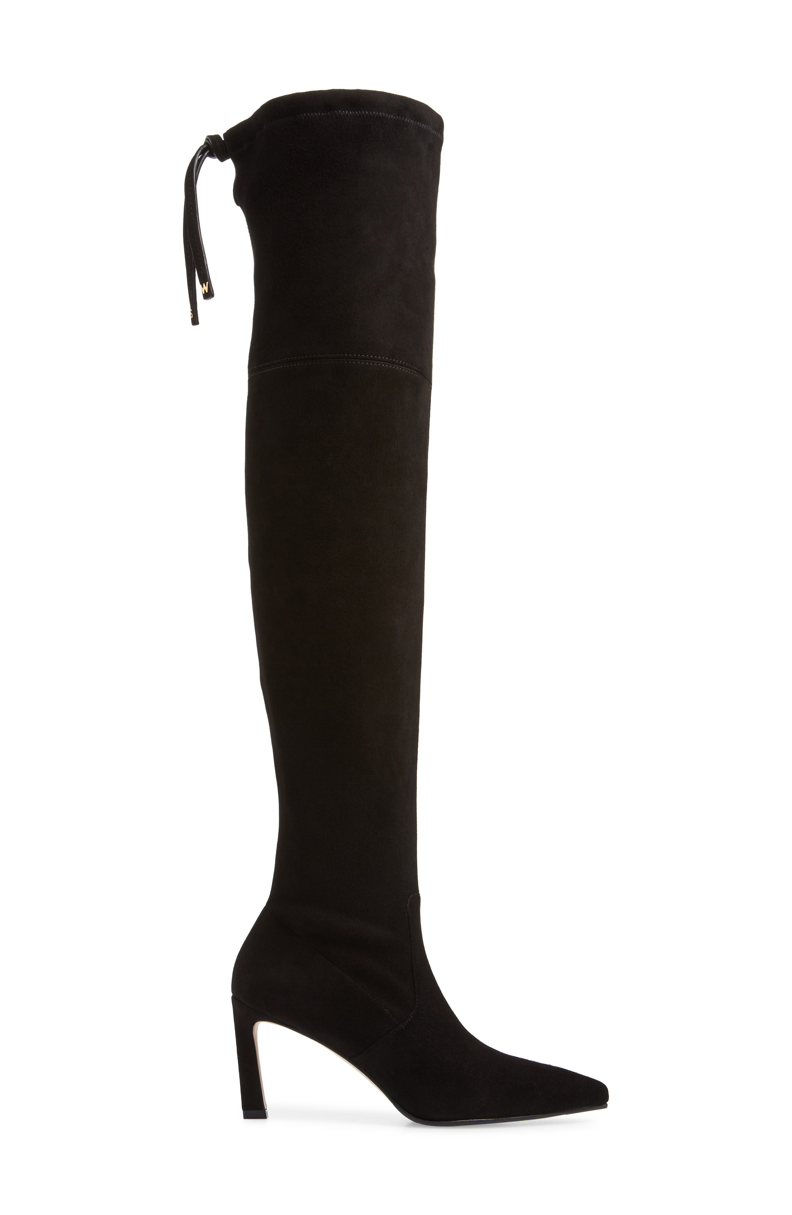 Natalia Thigh High Boot,                             Alternate thumbnail 3, color,                             BLACK SUEDE