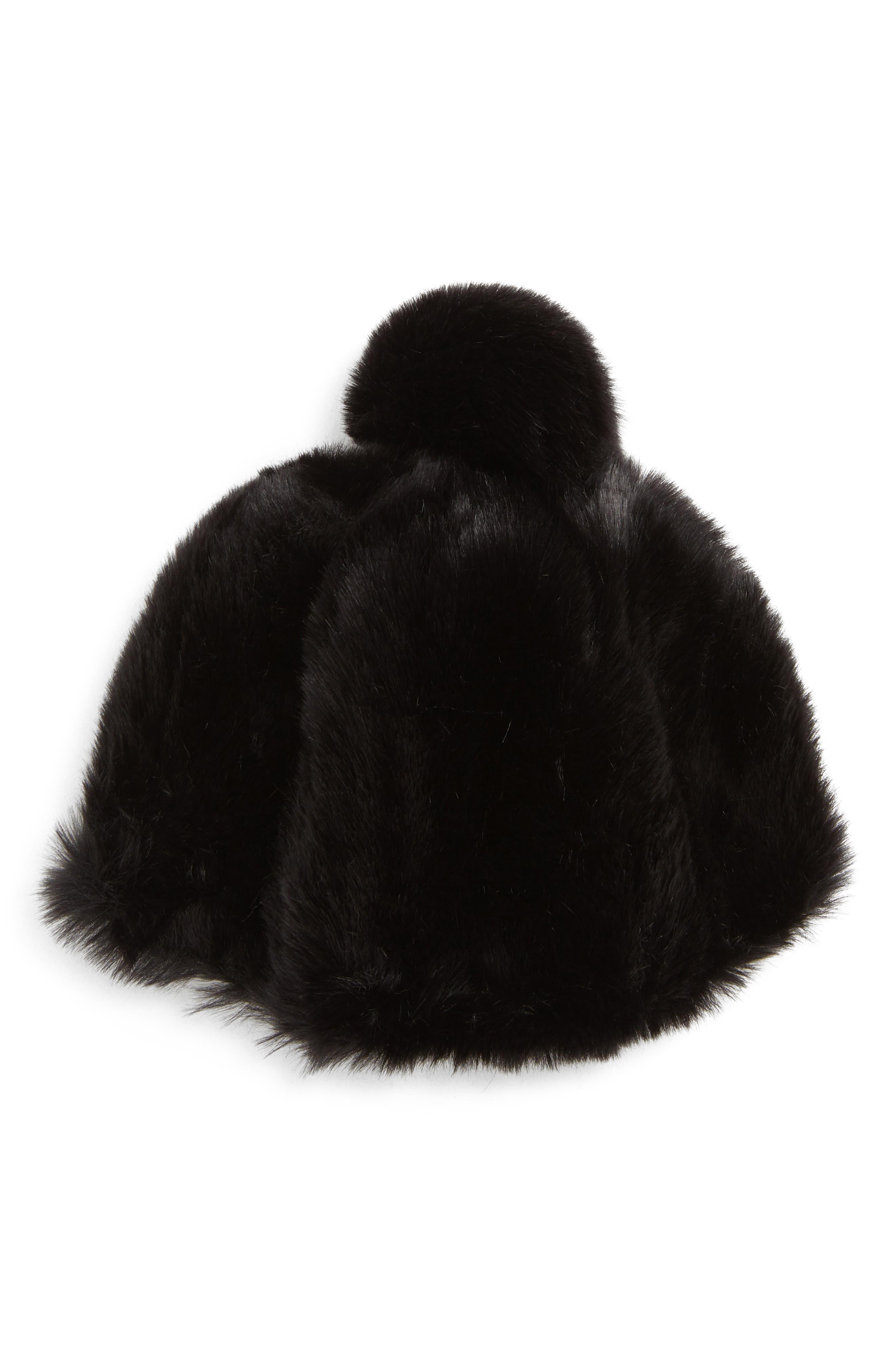 Faux Fur Oversized Pom Hat, Main, color, 001