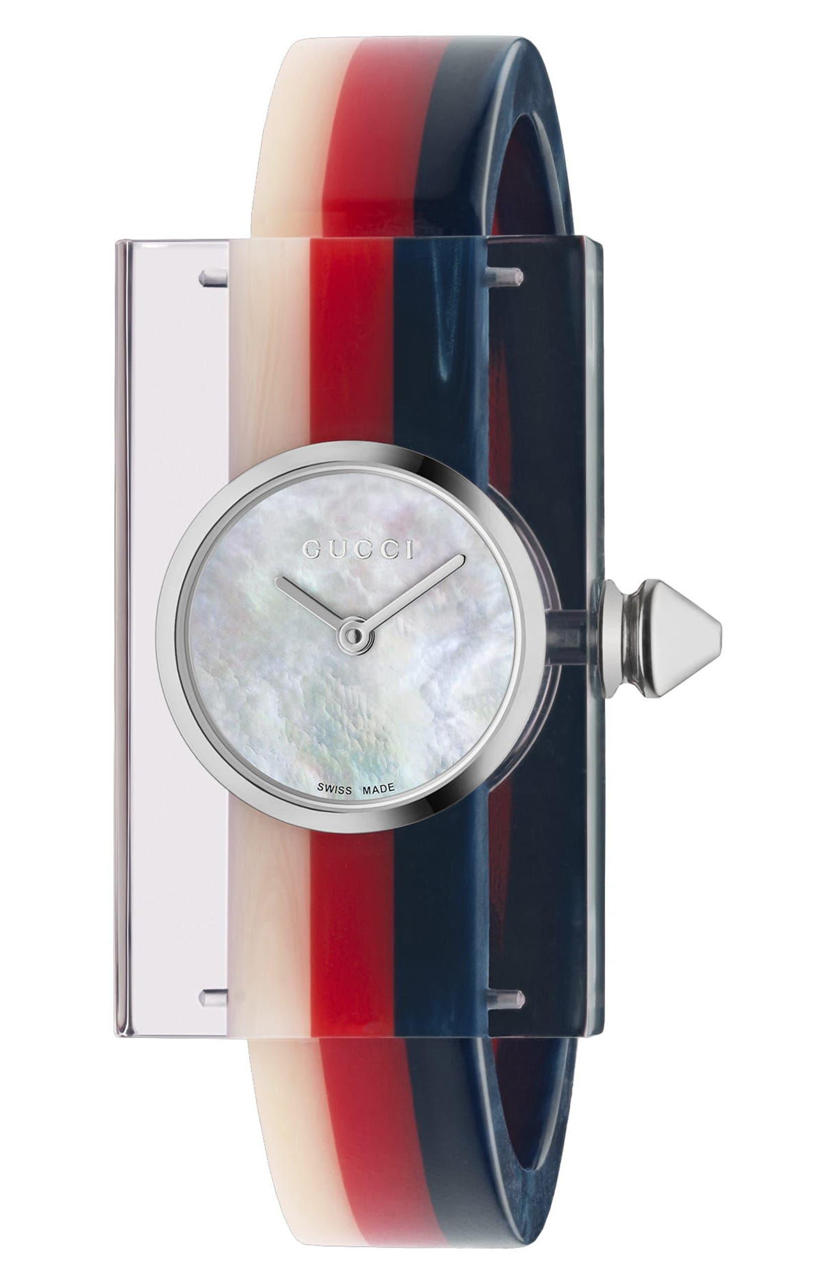 037f1c679b8 Gucci Plexiglas Bracelet Watch