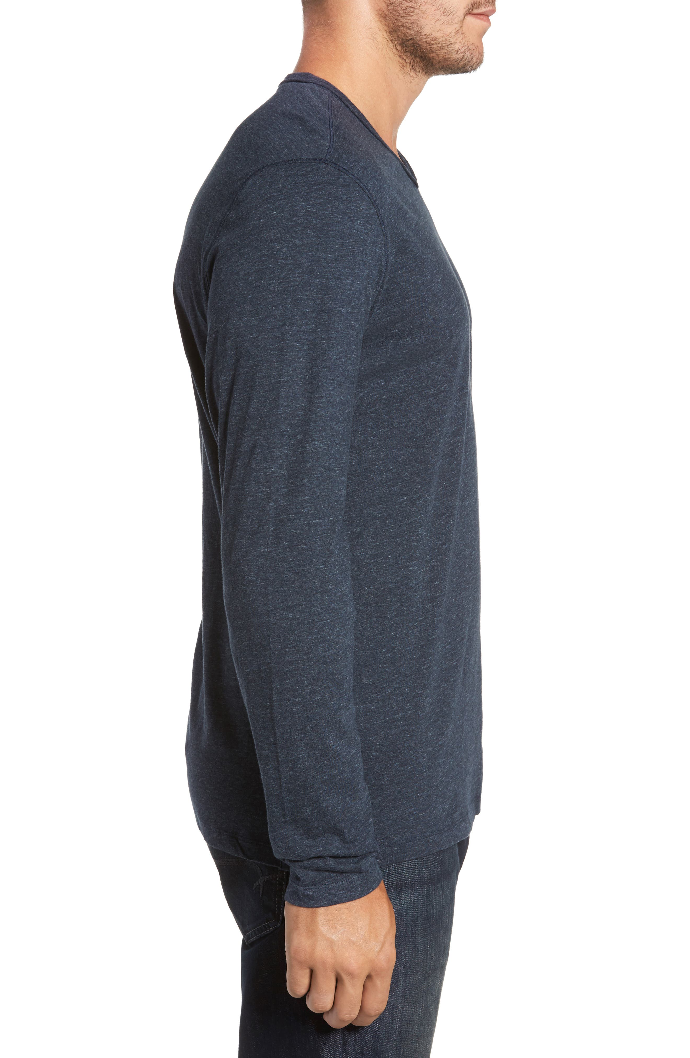 Flynn V-Neck T-Shirt,                             Alternate thumbnail 3, color,                             NAVY