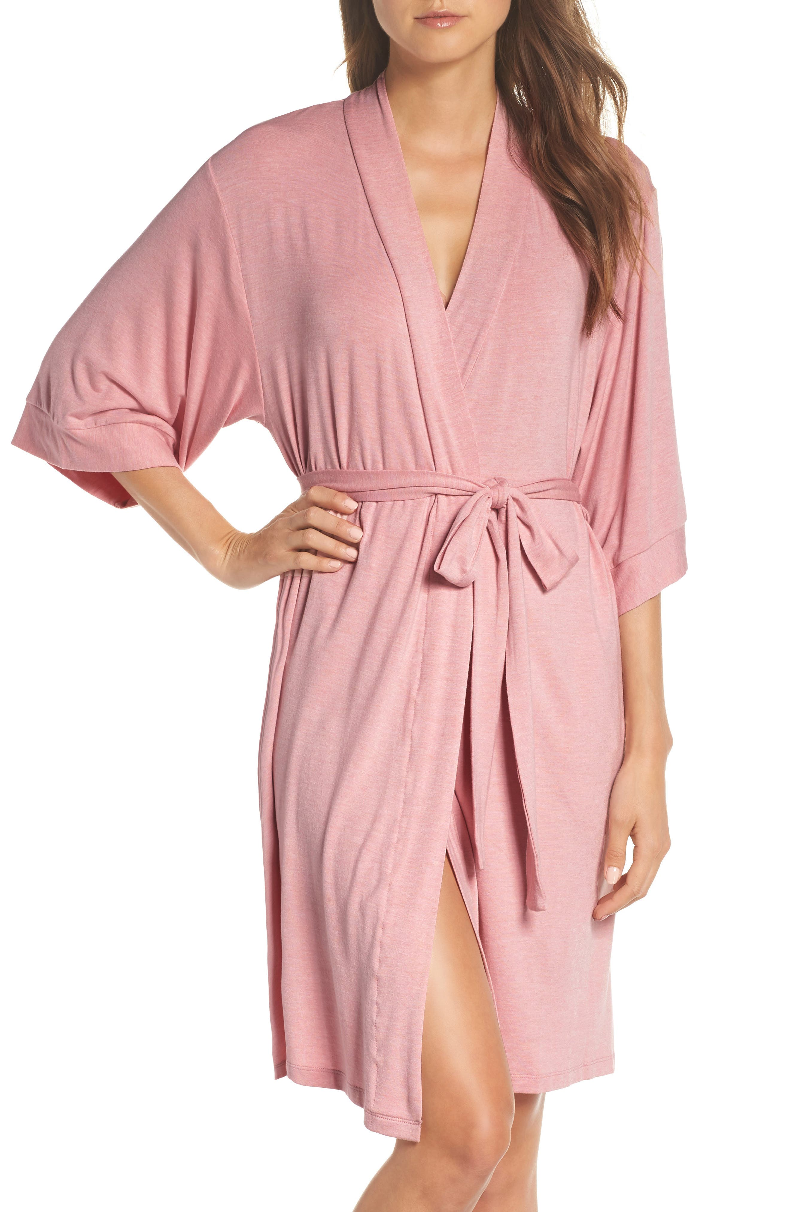 Short Robe,                             Main thumbnail 1, color,                             VINTAGE PINK