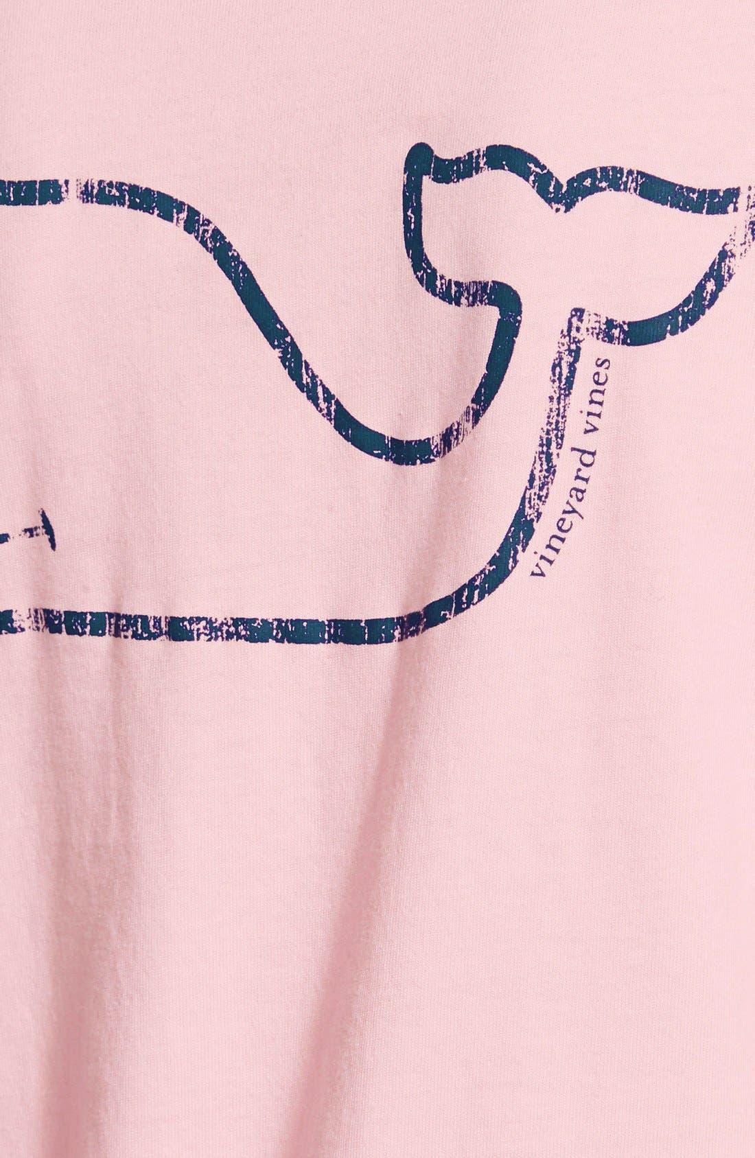 Whale Print Long Sleeve Tee,                             Alternate thumbnail 2, color,                             686