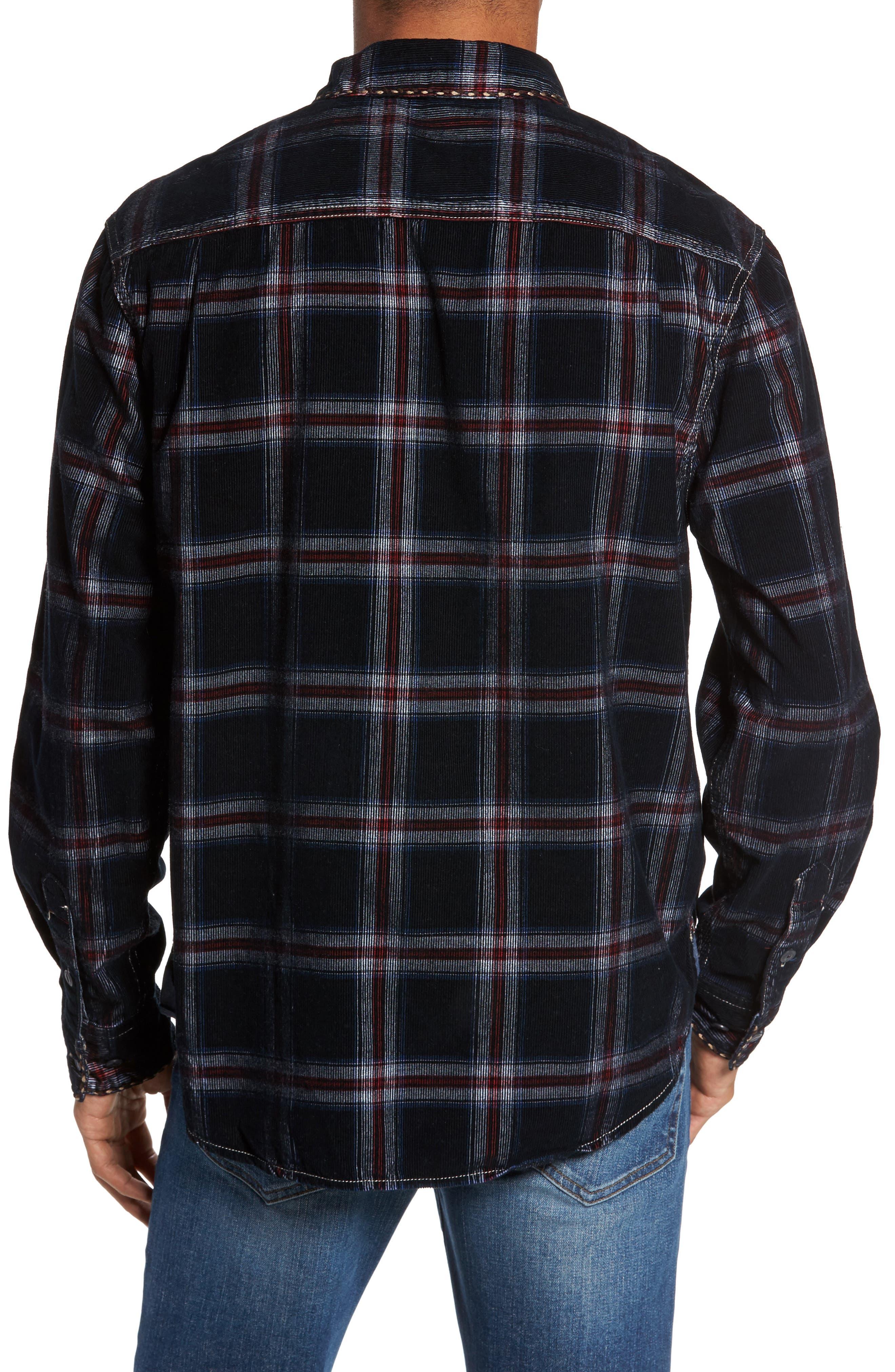 Summit Hunter Plaid Faux Shearling Lined Shirt Jacket,                             Alternate thumbnail 2, color,                             001