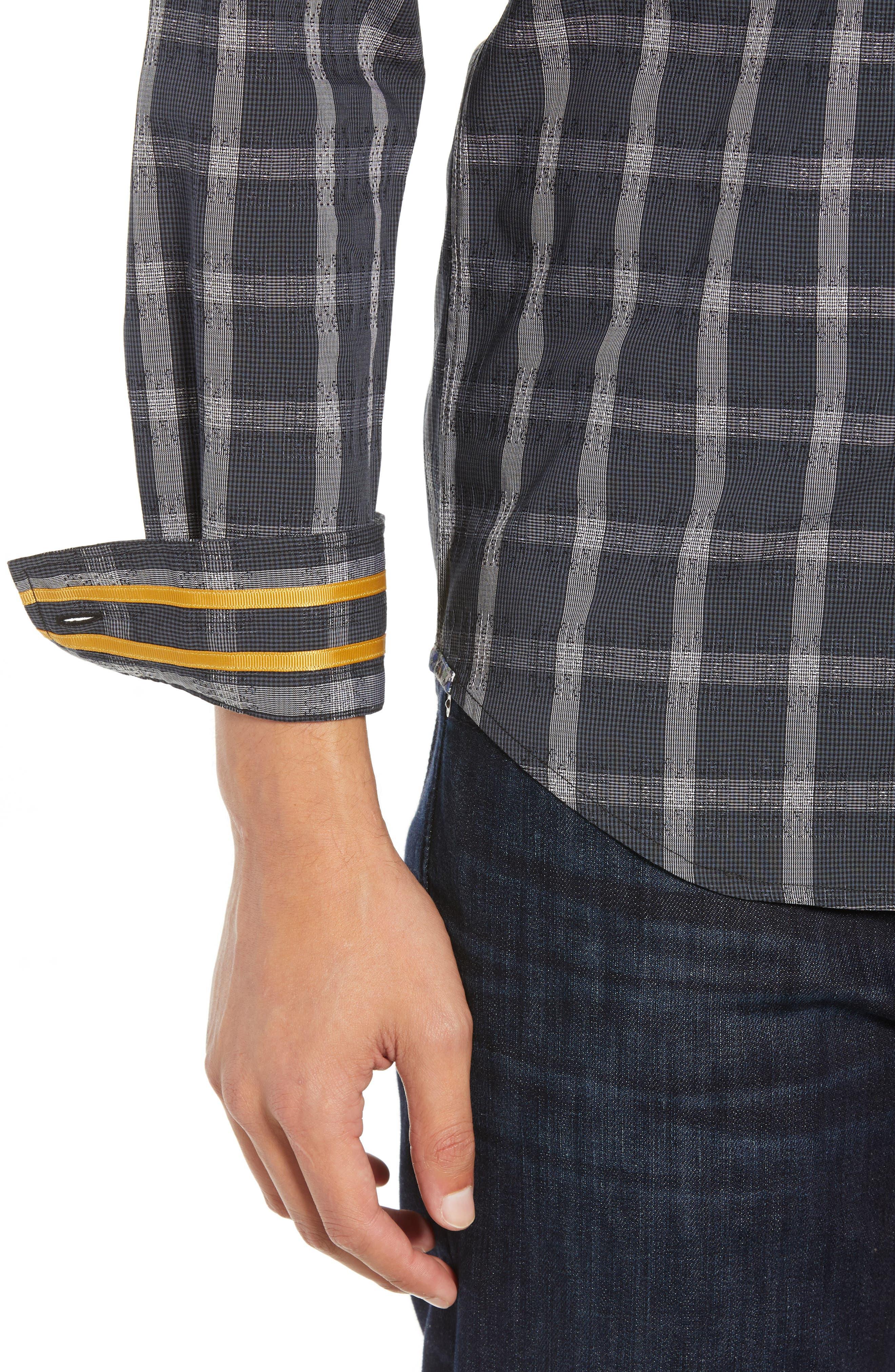 Jenson Tailored Fit Sport Shirt,                             Alternate thumbnail 2, color,                             BLACK
