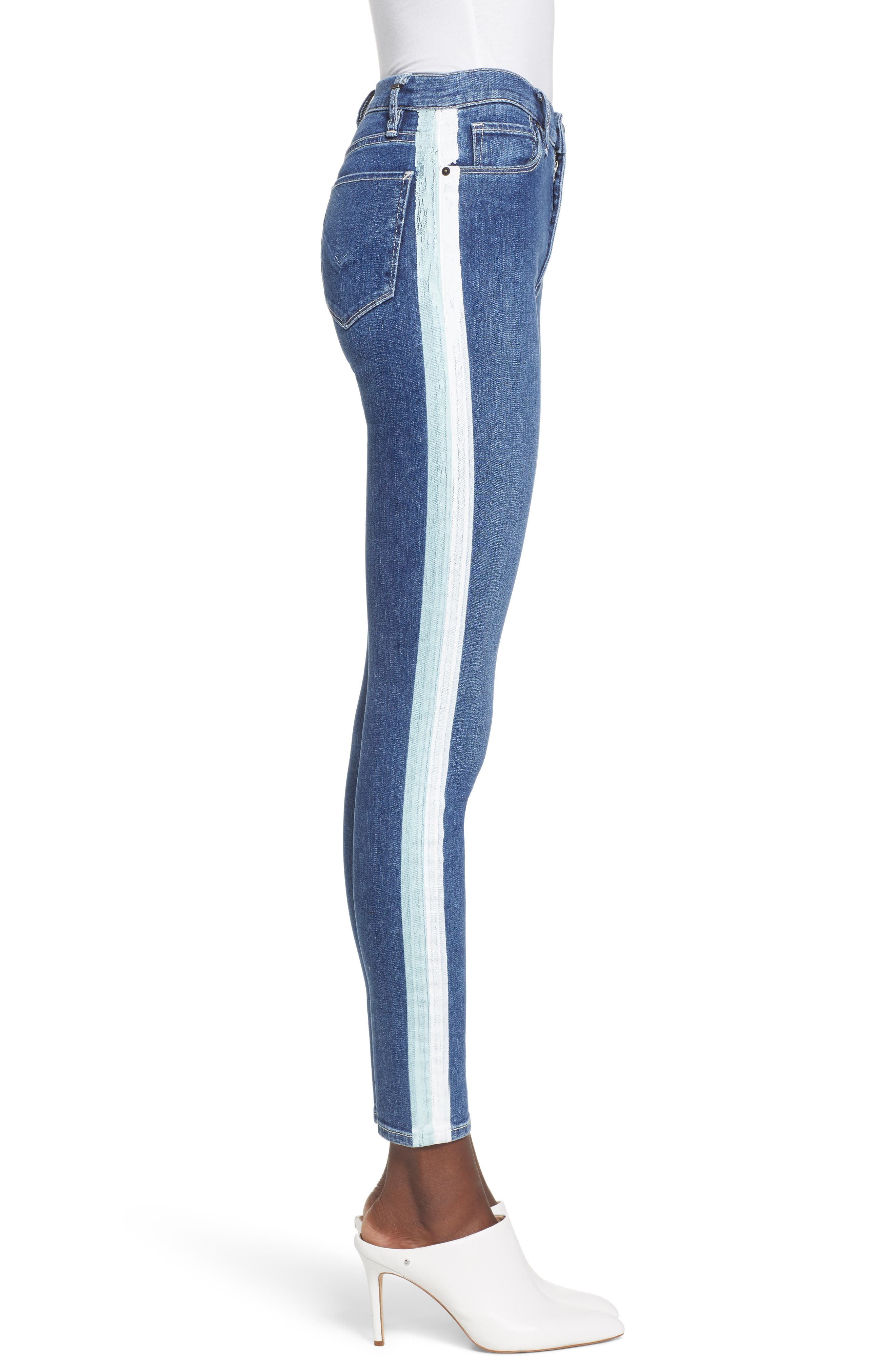 Barbara High Waist Ankle Skinny Jeans,                             Alternate thumbnail 3, color,                             403
