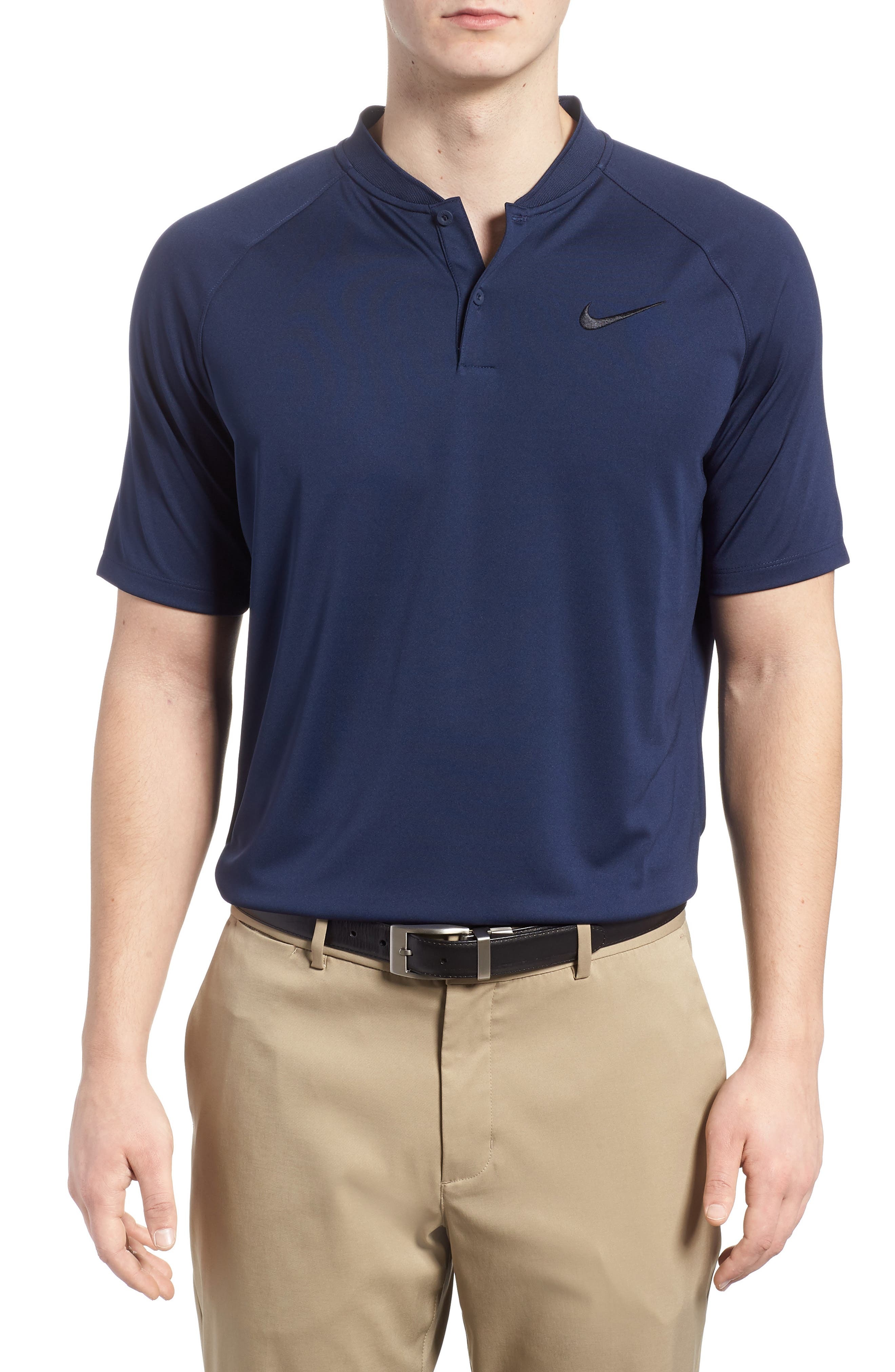 Dry Momentum Golf Polo,                             Main thumbnail 1, color,                             COLLEGE NAVY/ WHITE