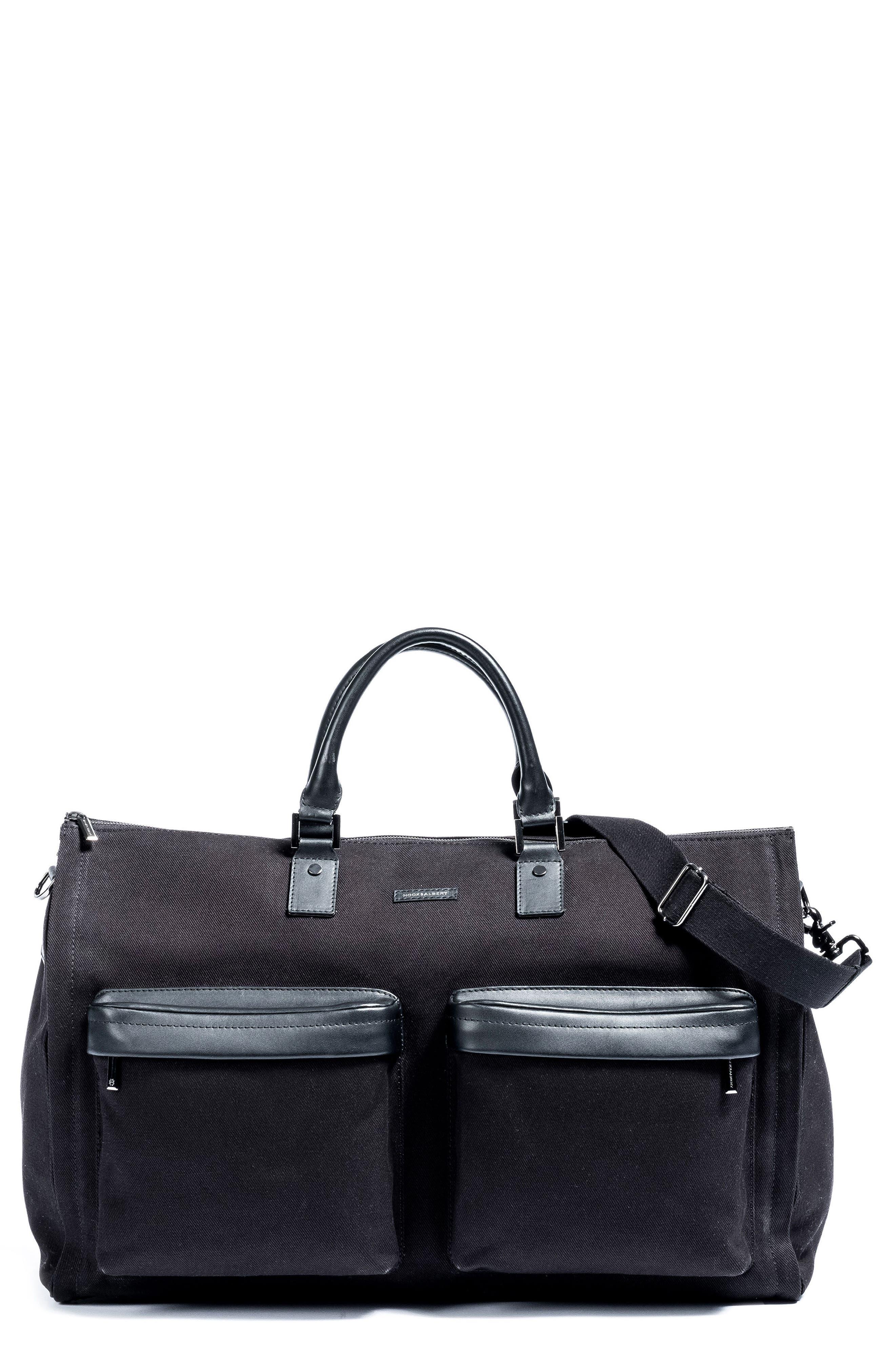 Twill Duffel Bag,                         Main,                         color, BLACK