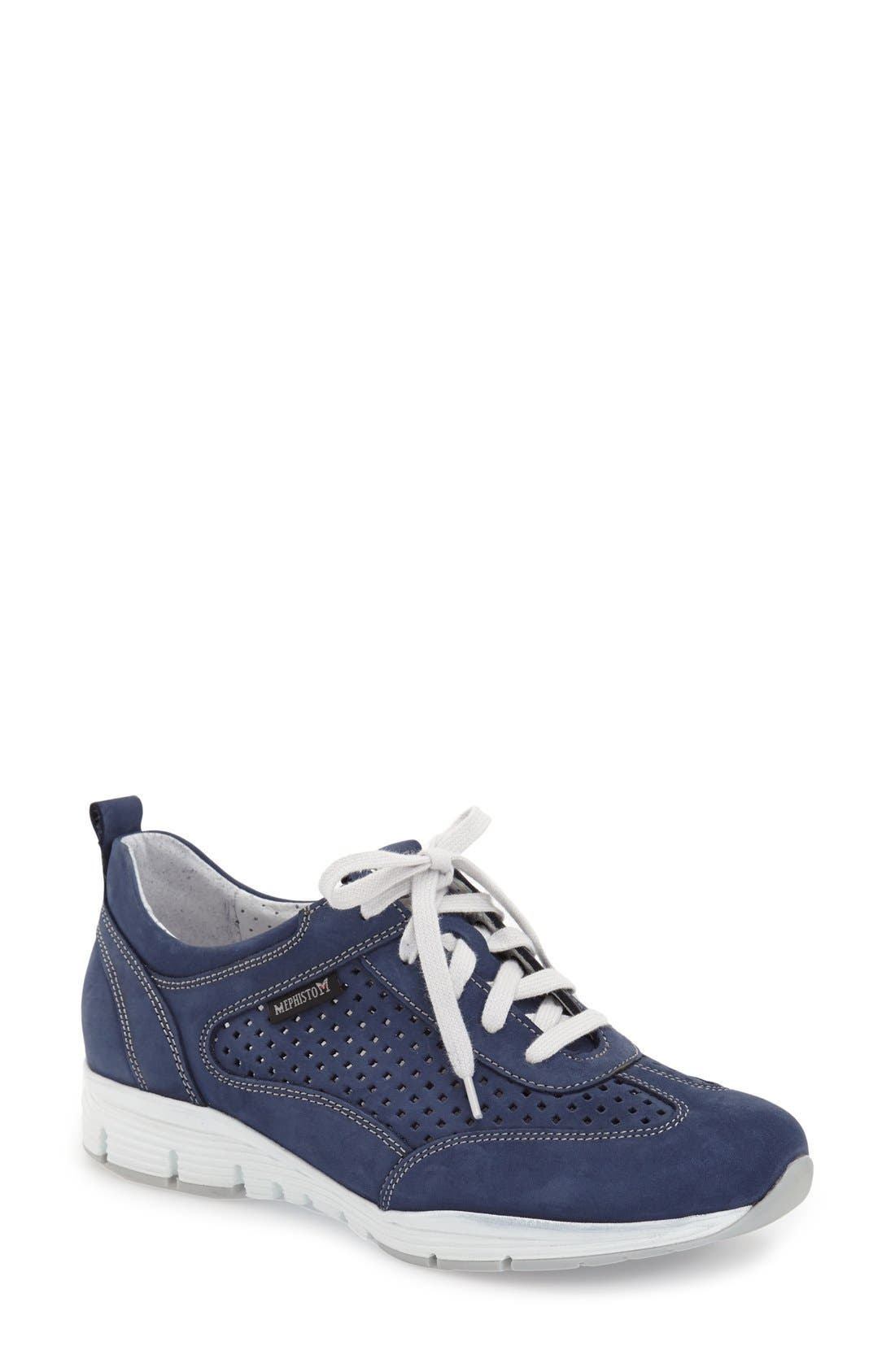 'Yoana' Soft Air Perforated Sneaker,                             Main thumbnail 1, color,                             411