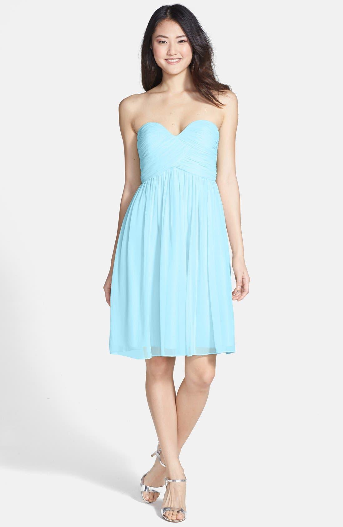 'Morgan' Strapless Silk Chiffon Dress,                             Main thumbnail 11, color,
