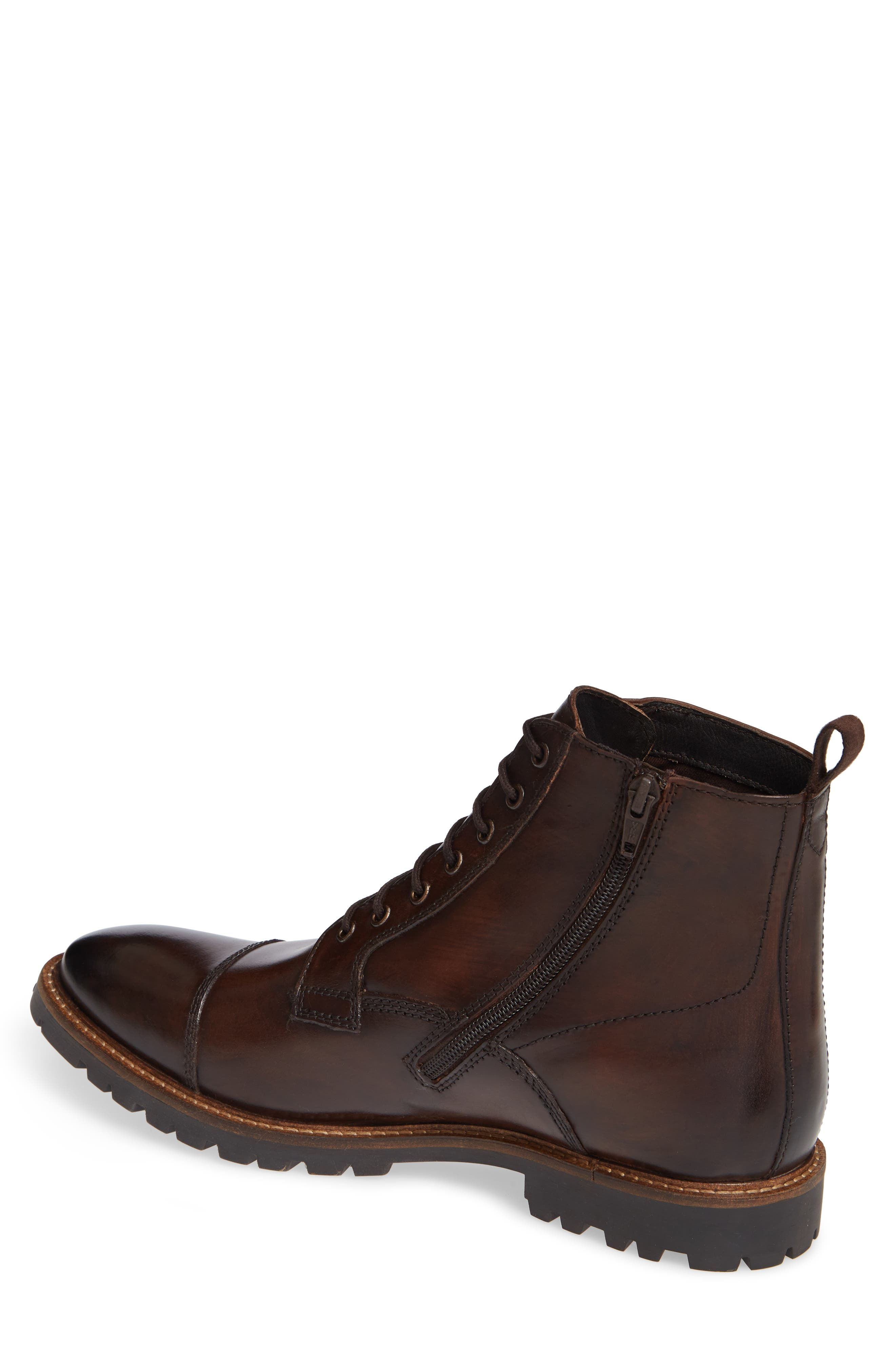 Lugged Cap Toe Boot,                             Alternate thumbnail 2, color,                             BROWN
