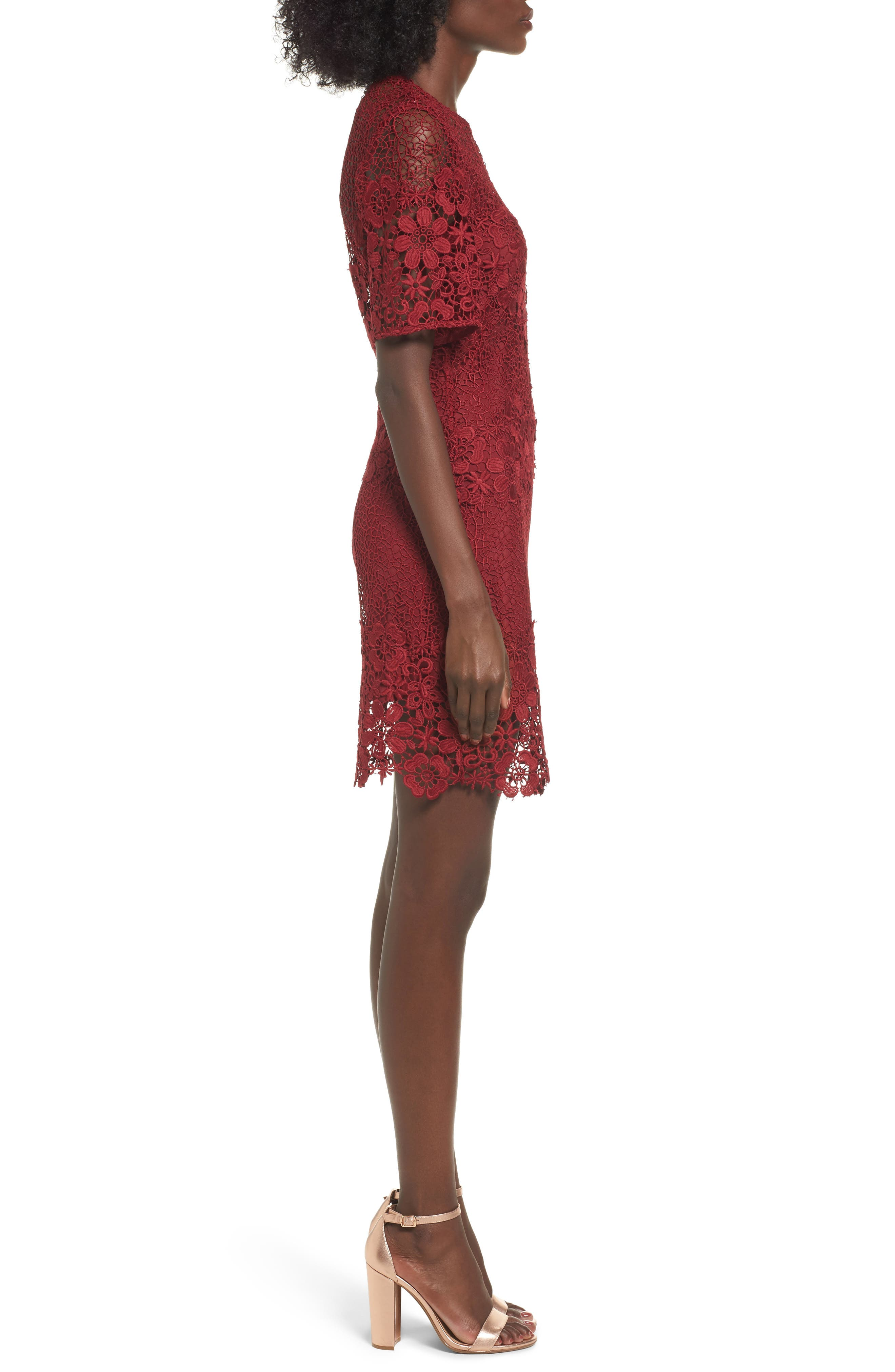 Reach Out Lace Body-Con Dress,                             Alternate thumbnail 3, color,