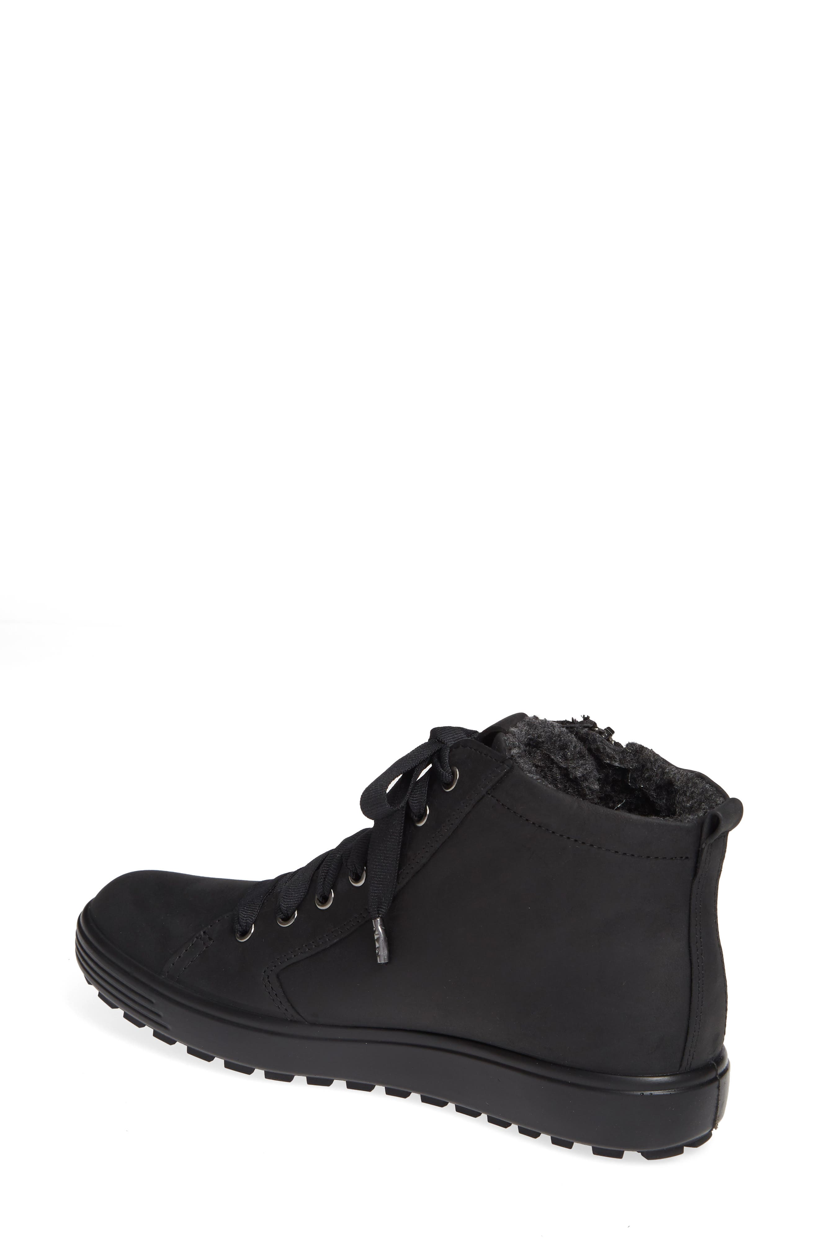 ECCO,                             Soft 7 Tred Gore-Tex<sup>®</sup> Waterproof Bootie,                             Alternate thumbnail 2, color,                             BLACK OIL NUBUCK LEATHER