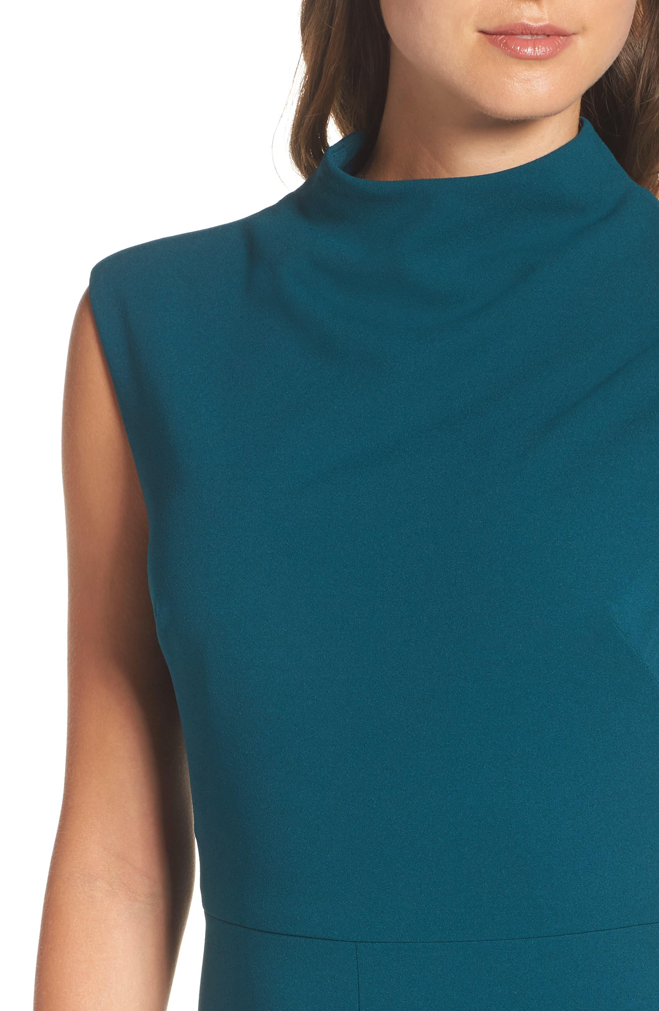 Crepe Midi Dress,                             Alternate thumbnail 4, color,                             399