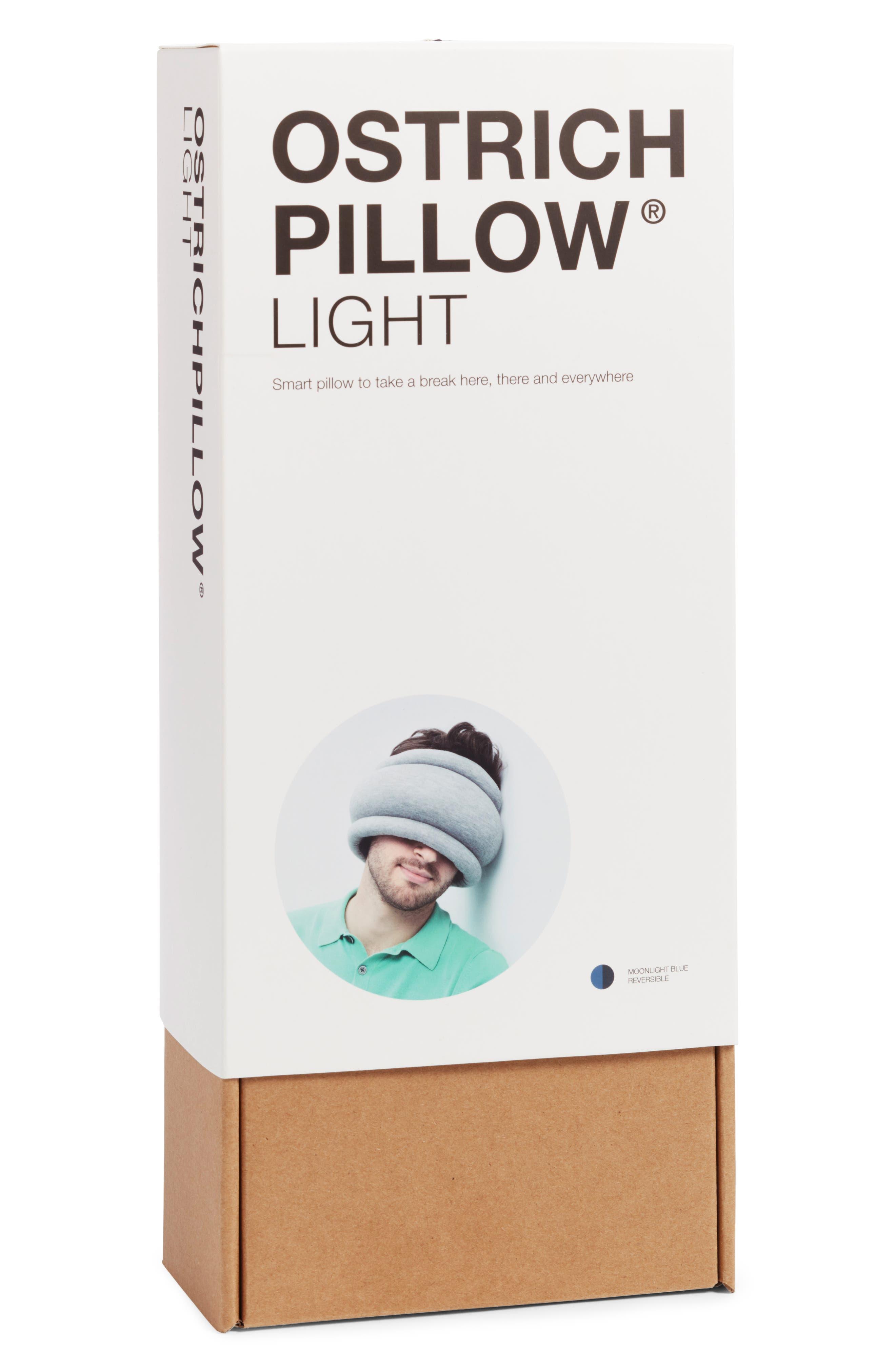 OSTRICHPILLOW<sup>®</sup> Light Reversible Travel Pillow,                             Alternate thumbnail 3, color,                             MOONLIGHT BLUE