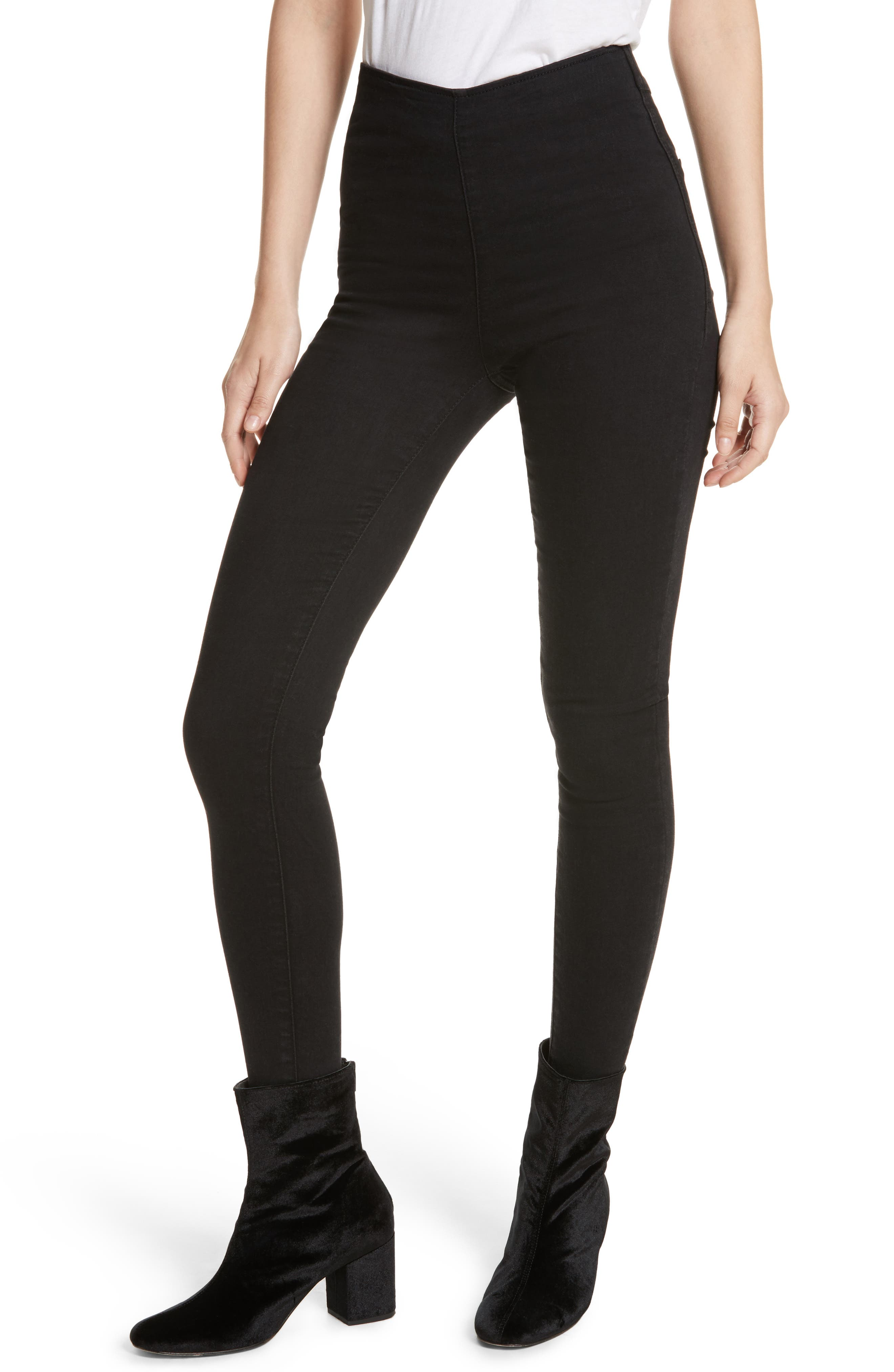 We the Free by Free People Easy Goes It Leggings,                             Main thumbnail 1, color,                             002