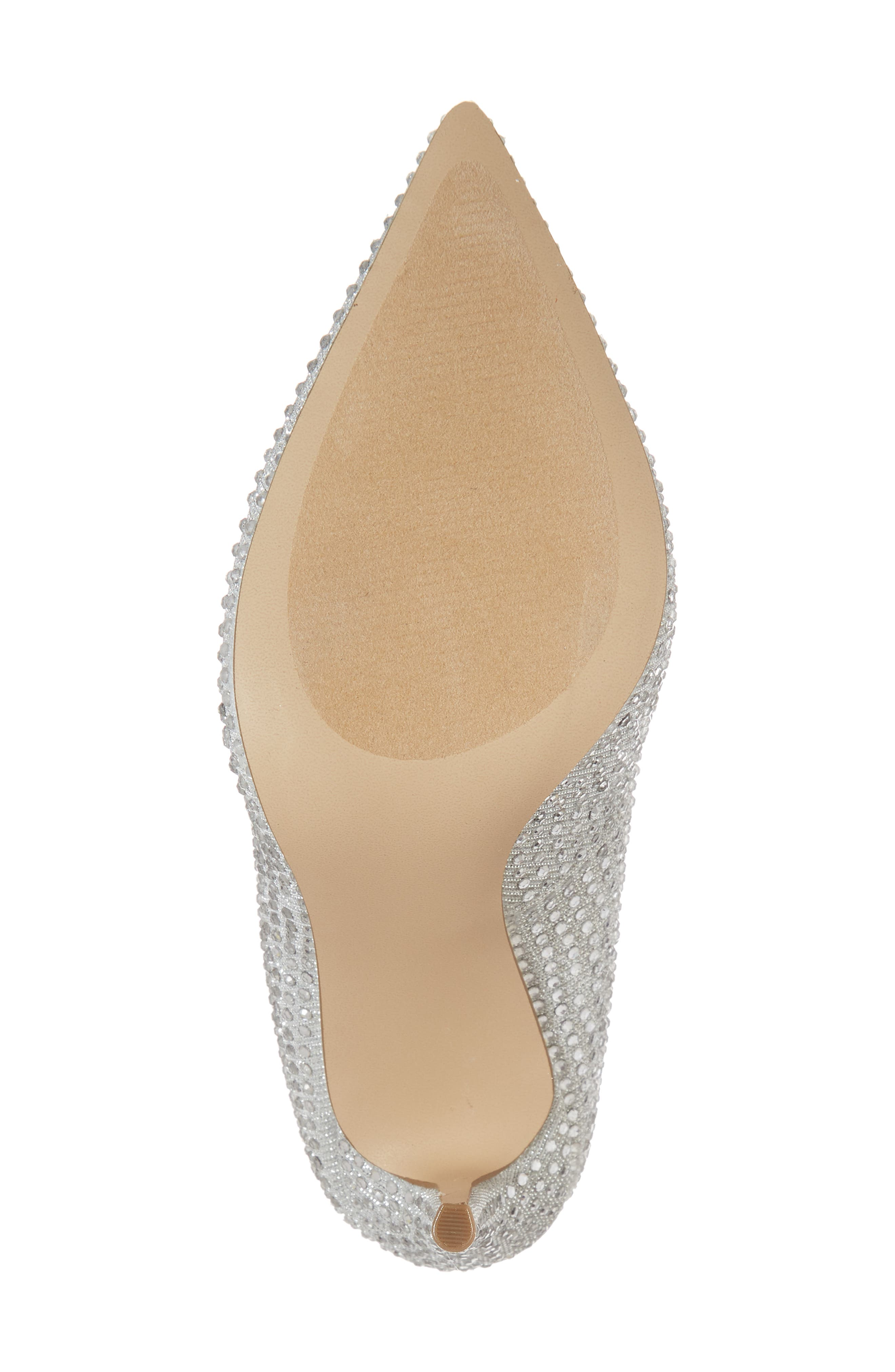 Daisie Pointy-Toe Pump,                             Alternate thumbnail 6, color,                             SILVER
