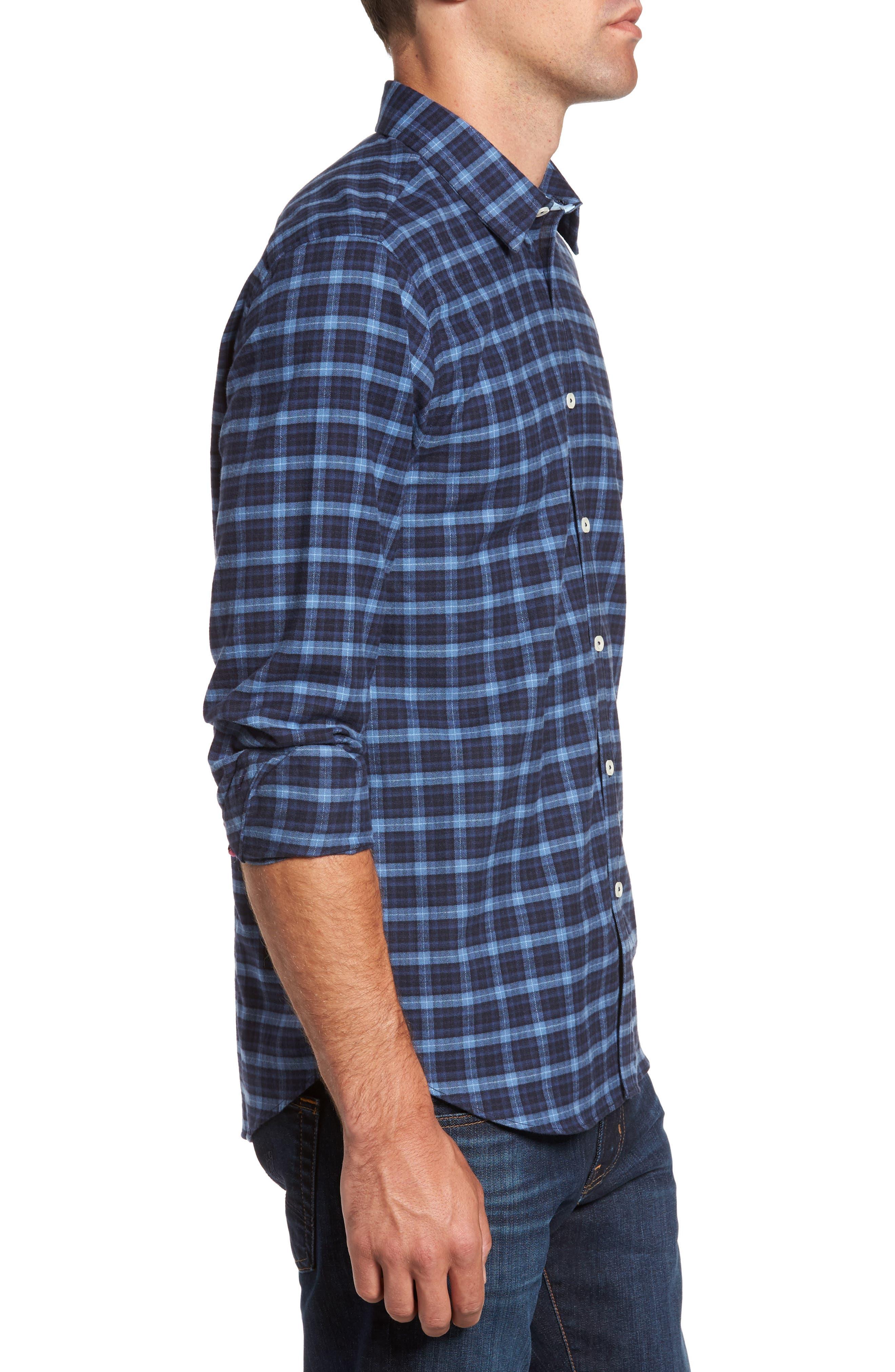 Regular Fit Plaid Sport Shirt,                             Alternate thumbnail 3, color,                             410