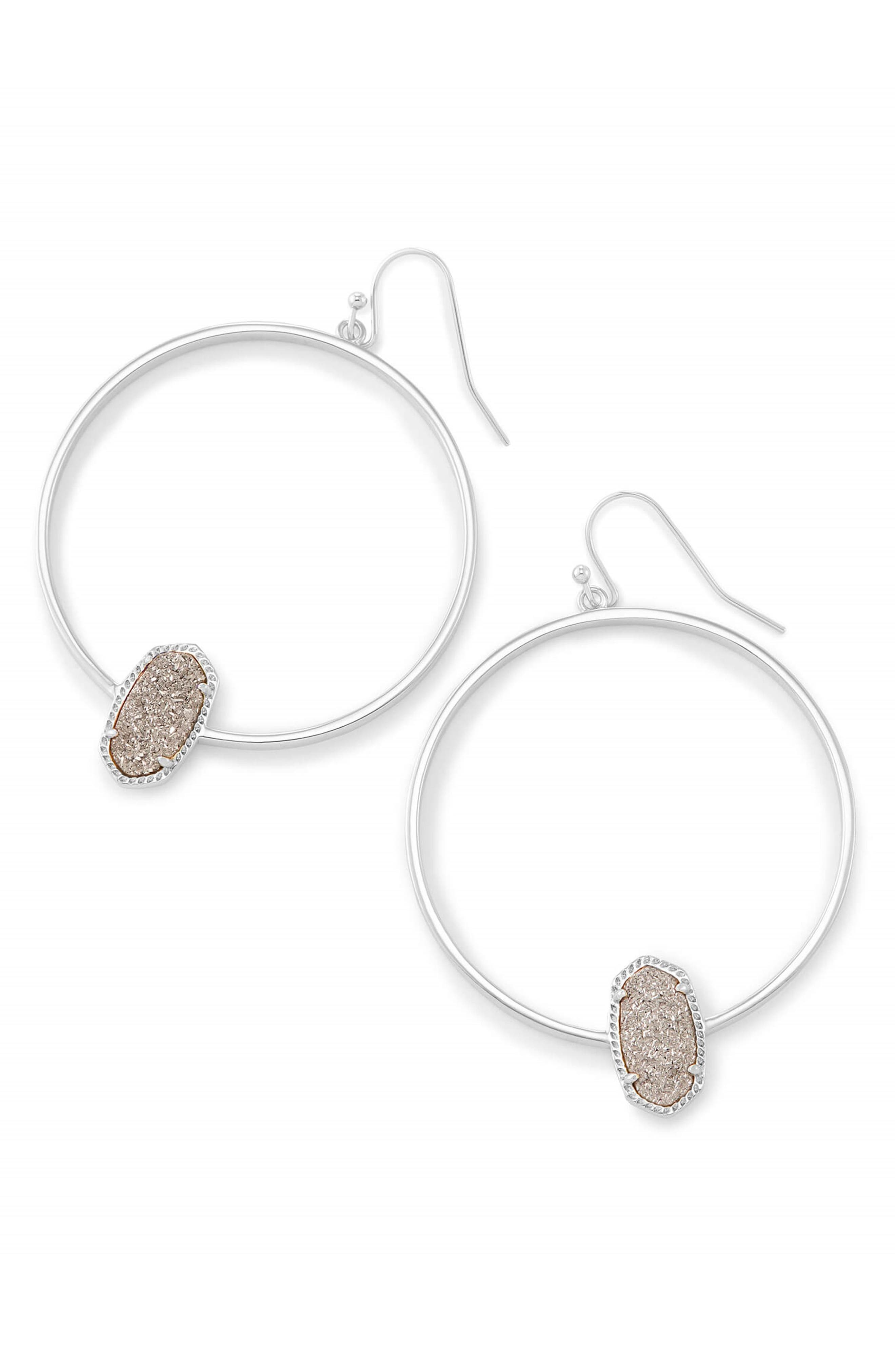 Elora Frontal Hoop Earrings,                             Main thumbnail 5, color,