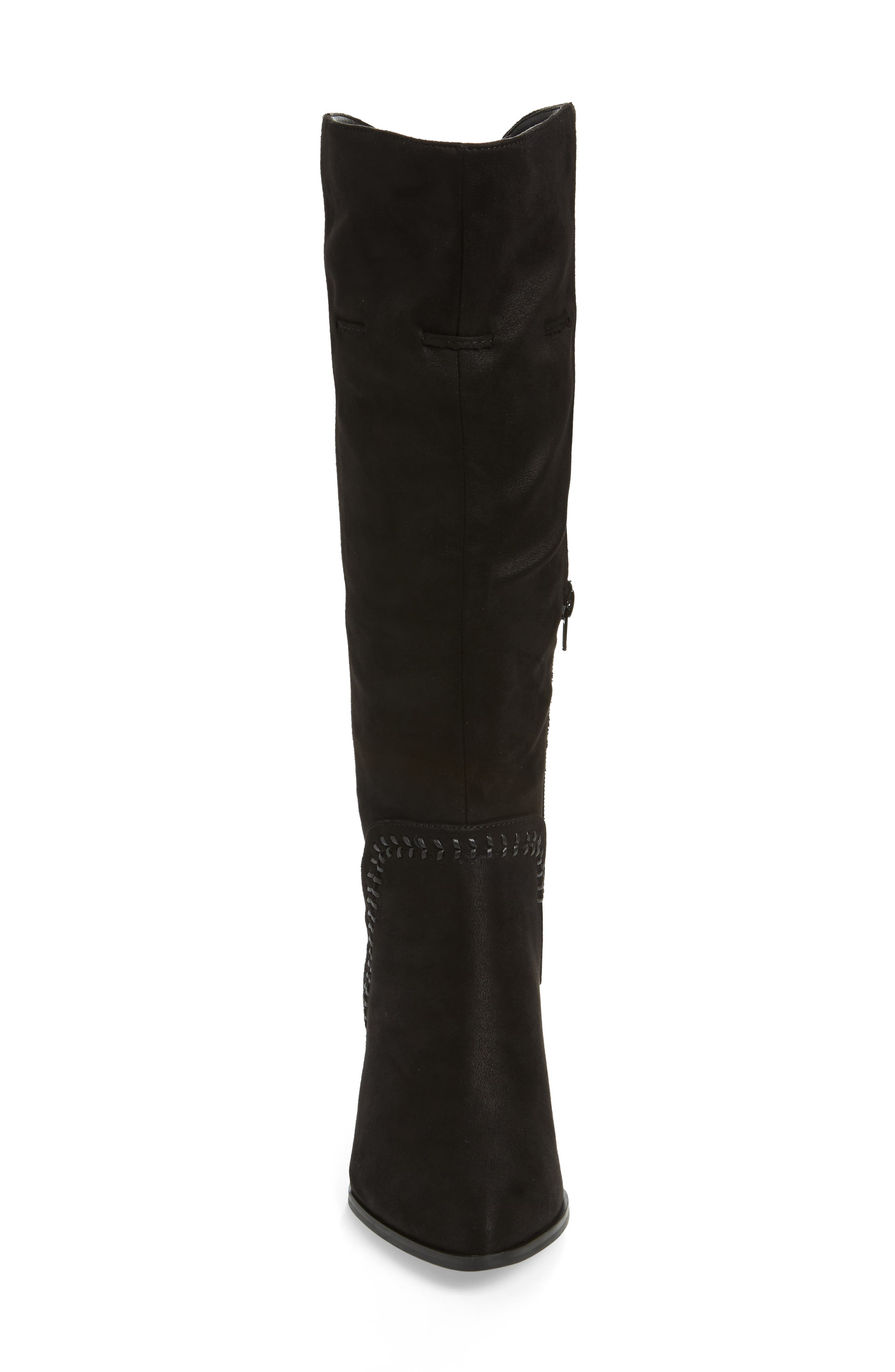 Eleanor II Knee High Boot,                             Alternate thumbnail 4, color,                             BLACK