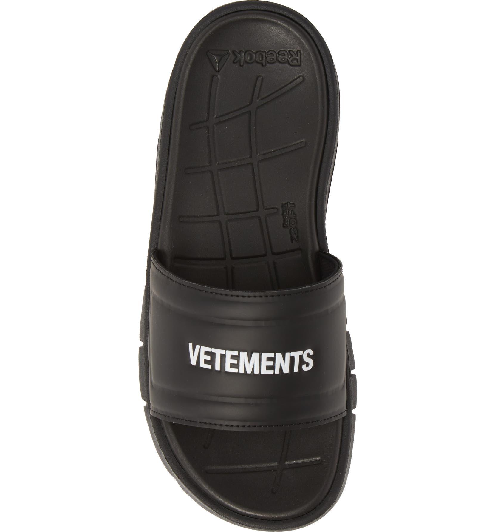 aaf36c8e3eb Vetements x Reebok Logo Slide Sandal (Women)