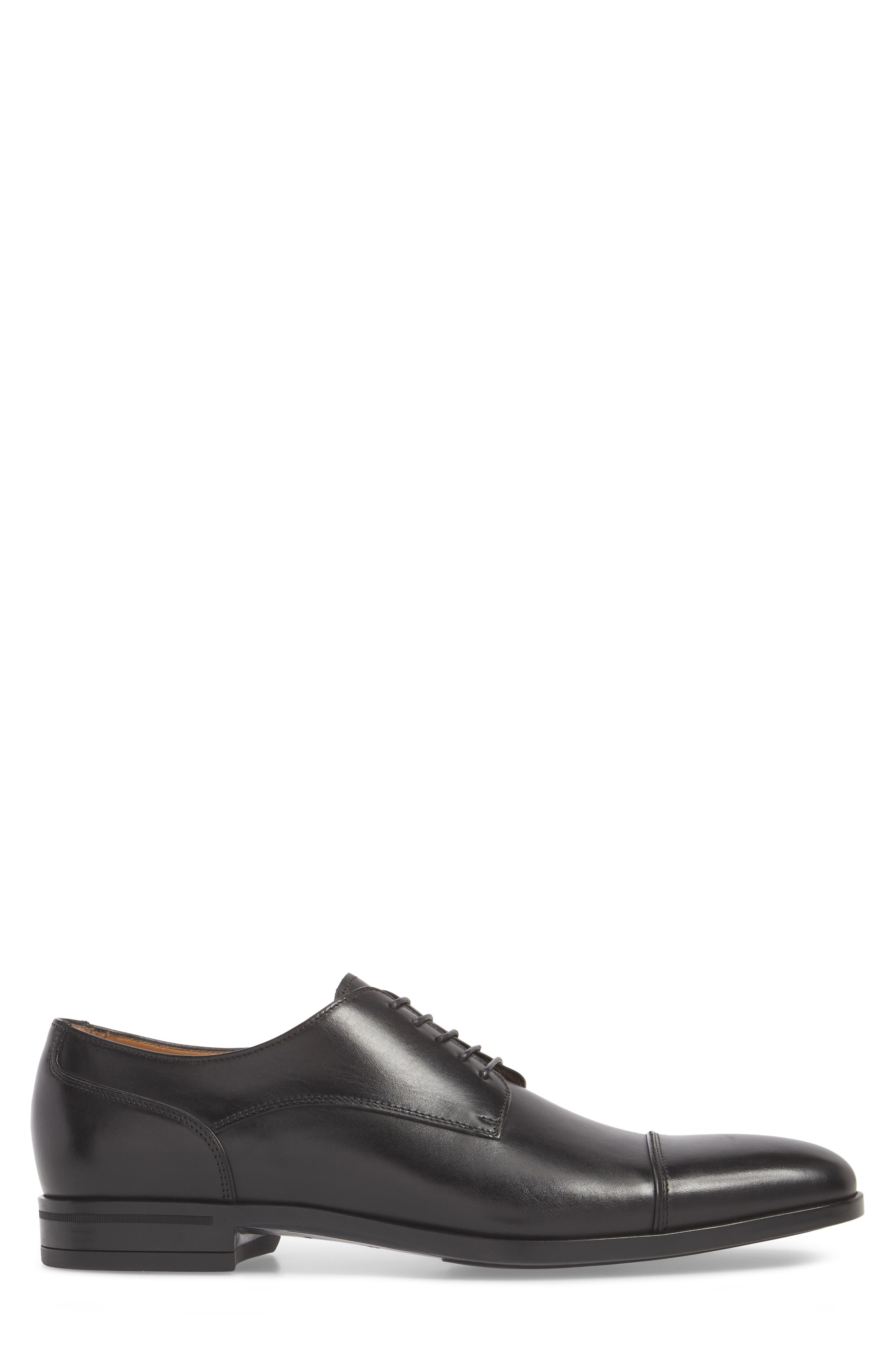 Hugo Boss Portland Cap Toe Derby,                             Alternate thumbnail 3, color,                             001