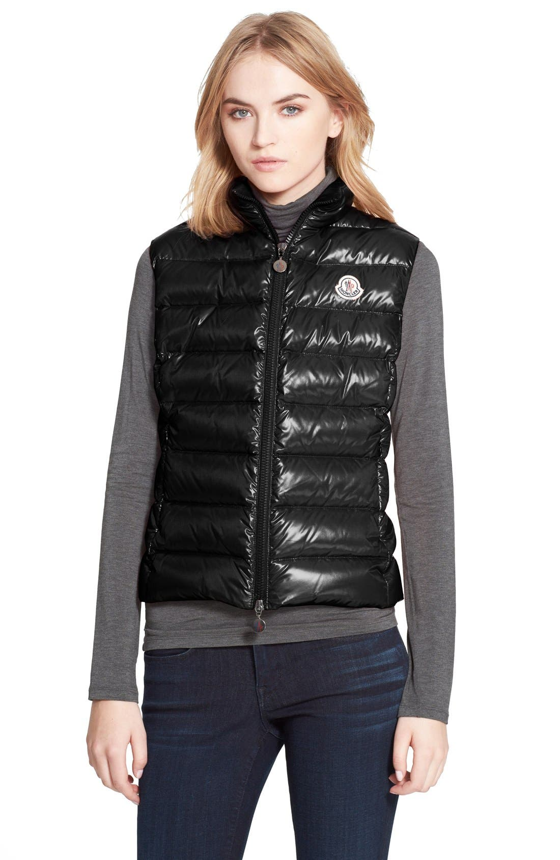 'Ghany' Down Puffer Vest,                             Main thumbnail 1, color,                             001