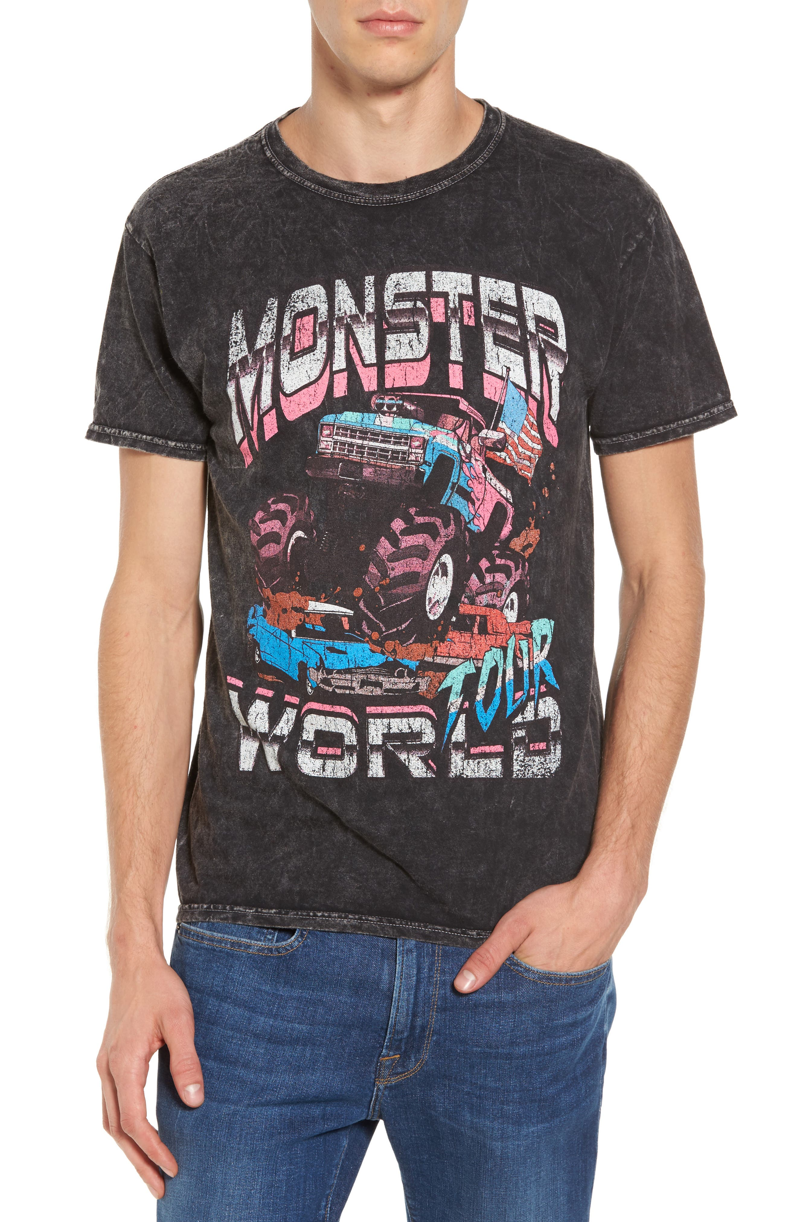 Monster World Graphic T-Shirt,                         Main,                         color, 001