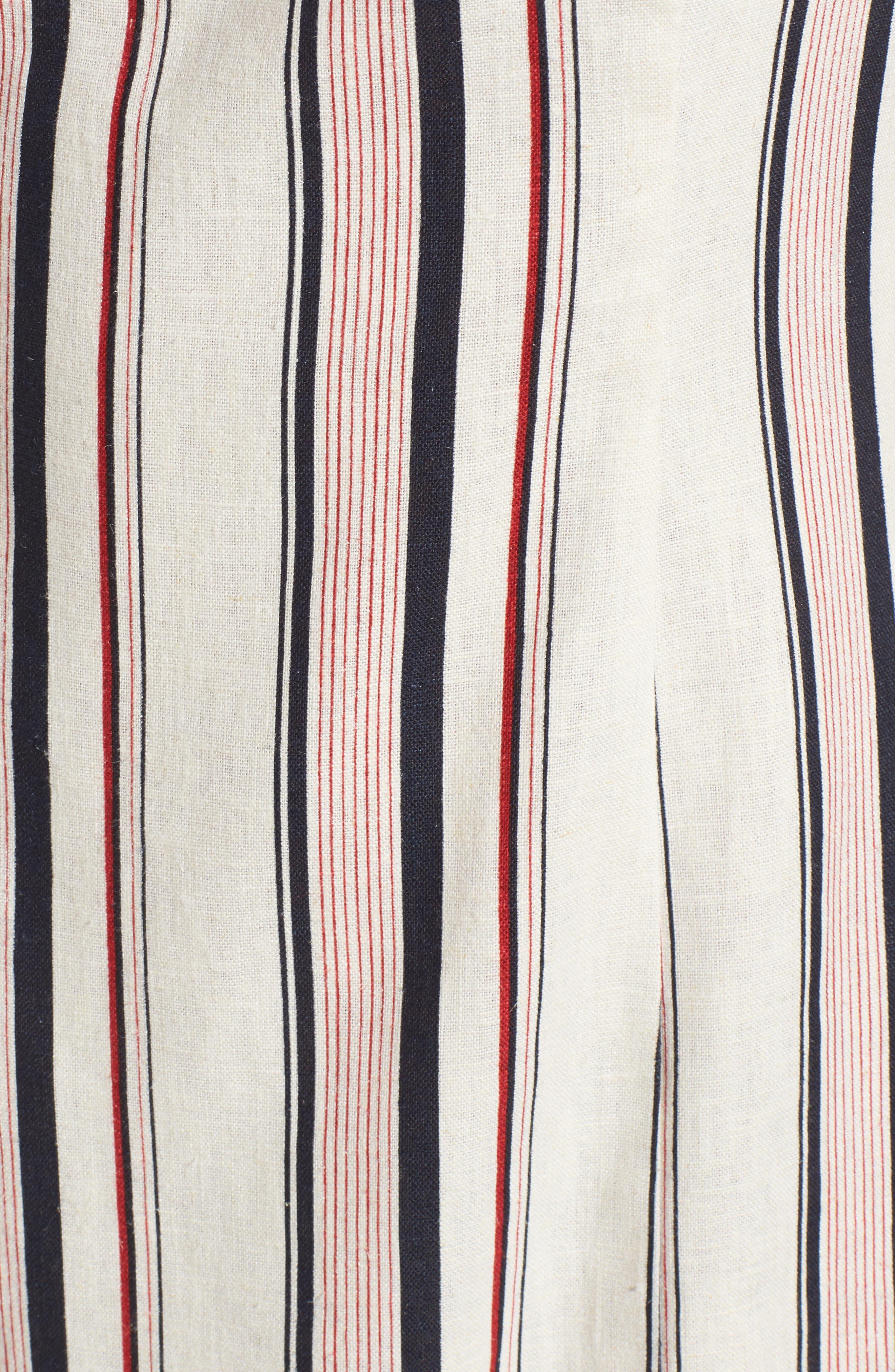 Striped Shift Dress,                             Alternate thumbnail 6, color,                             400
