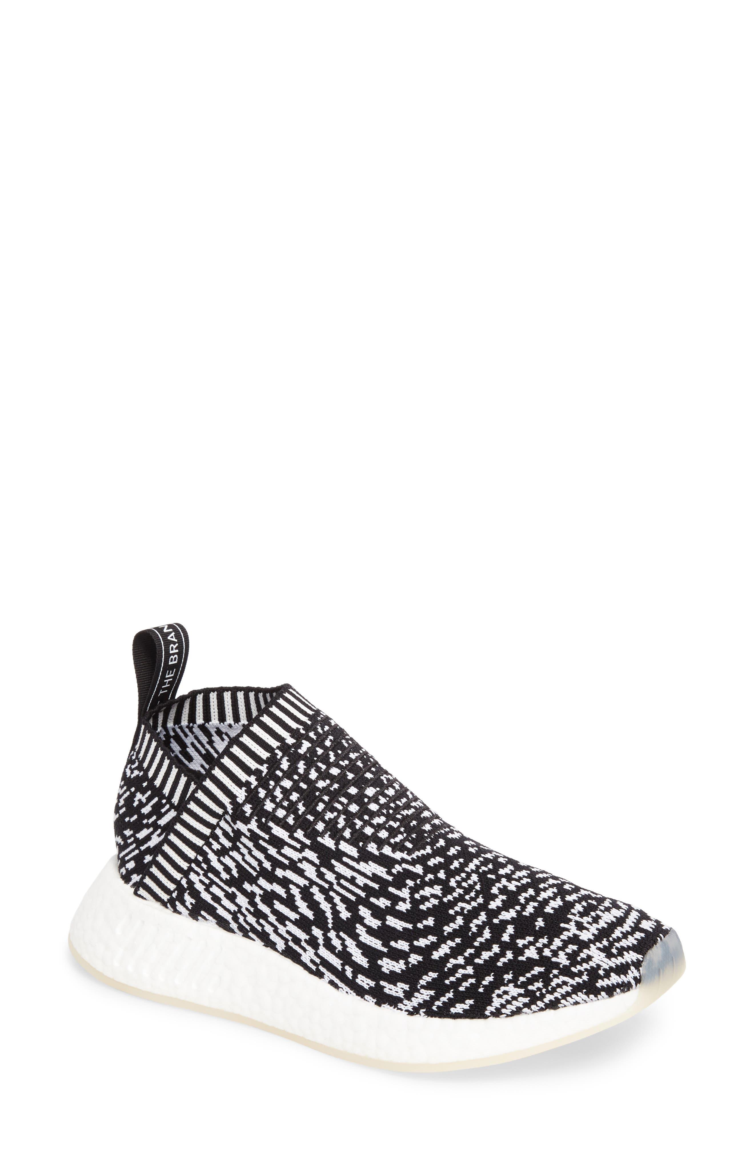 NMD_CS2 Primeknit Sneaker,                             Main thumbnail 1, color,                             001