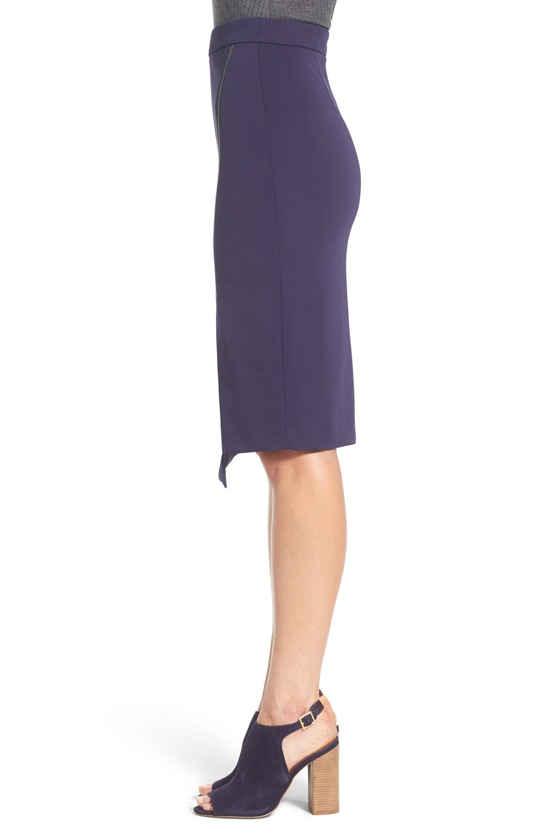 Asymmetrical Zip Pencil Skirt,                             Alternate thumbnail 11, color,