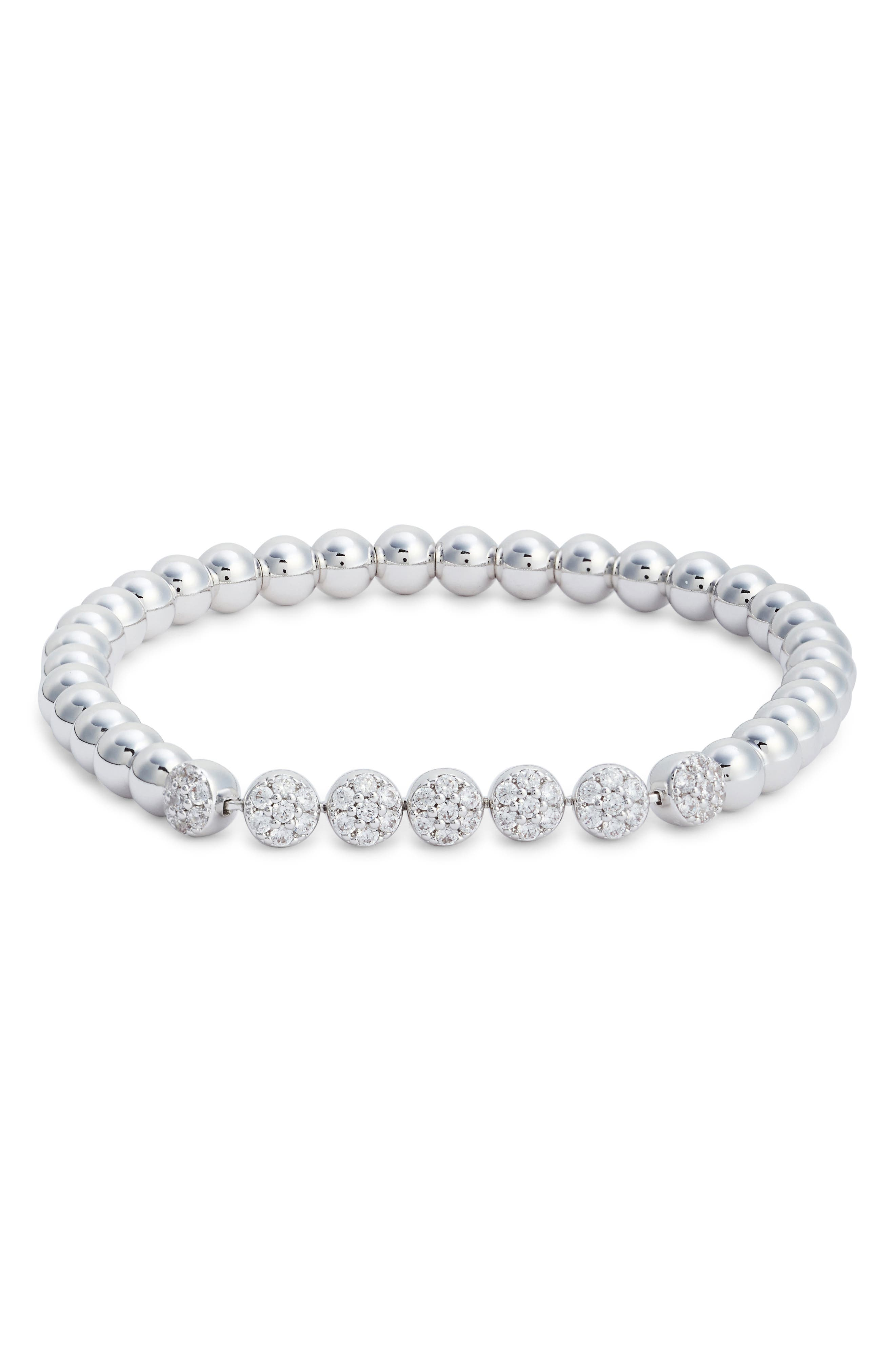 Cubic Zirconia Bracelet,                             Main thumbnail 1, color,