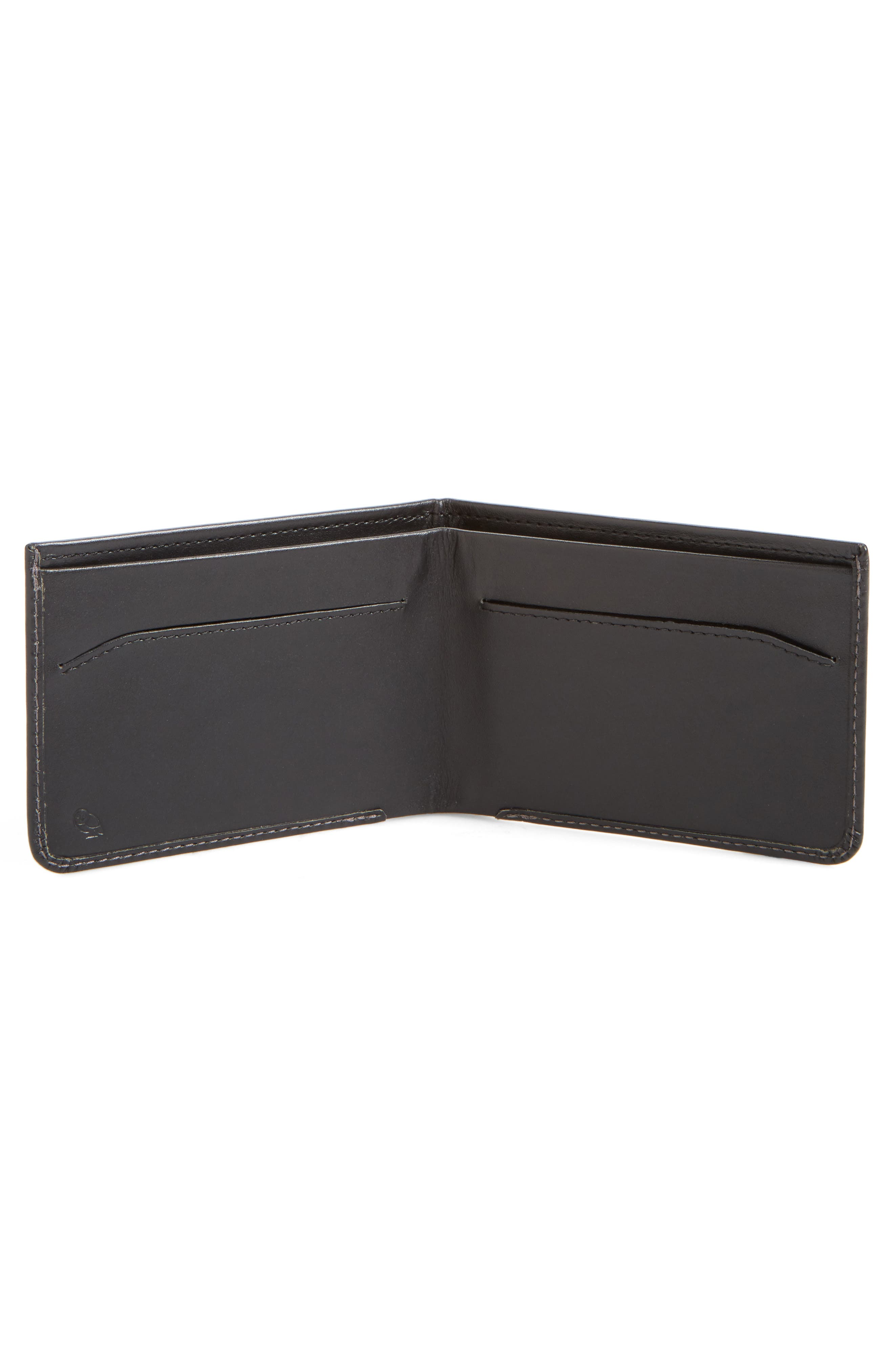 Low Down Leather Wallet,                             Alternate thumbnail 2, color,                             001