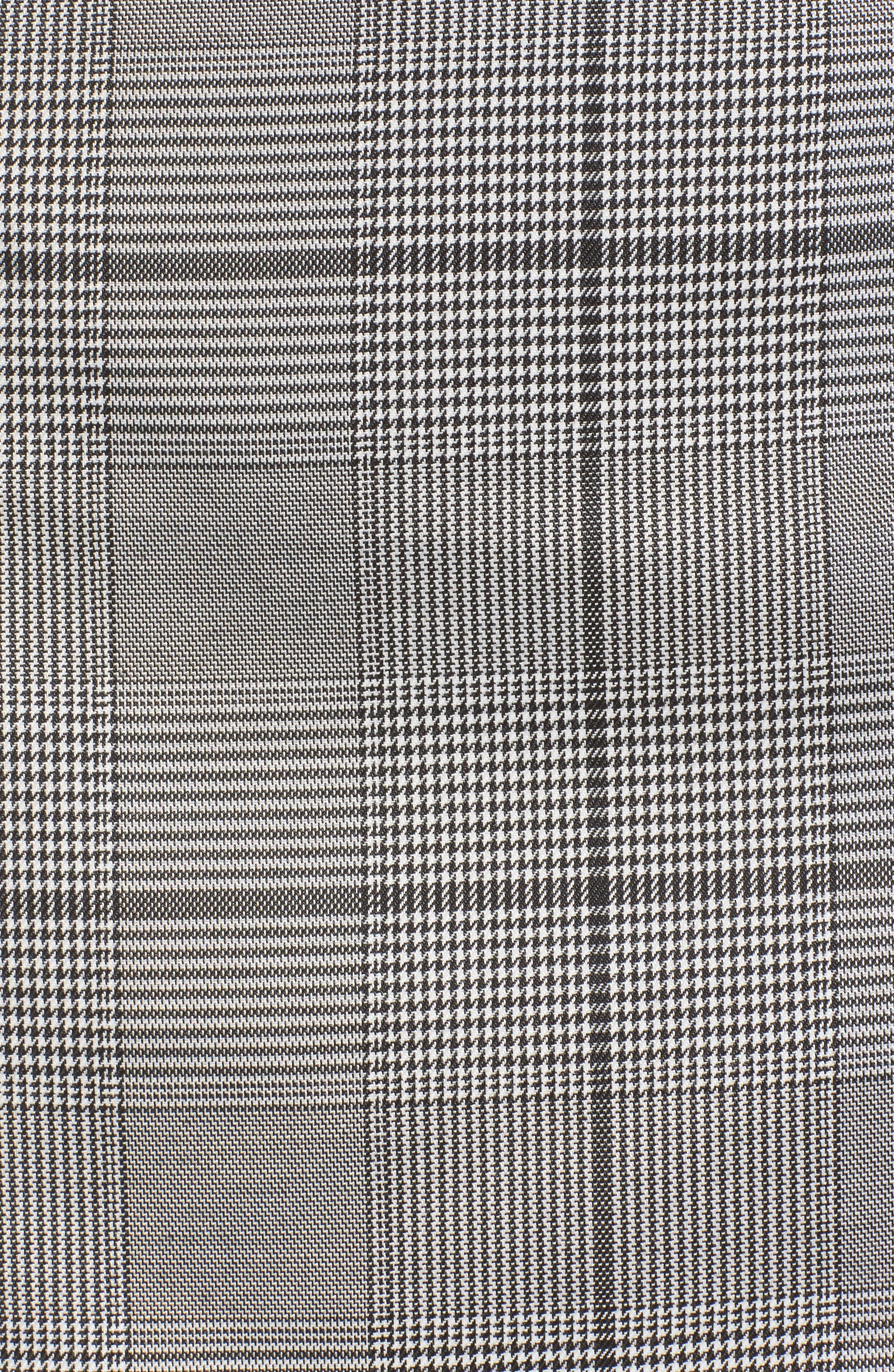 Button Plaid Miniskirt,                             Alternate thumbnail 5, color,                             001