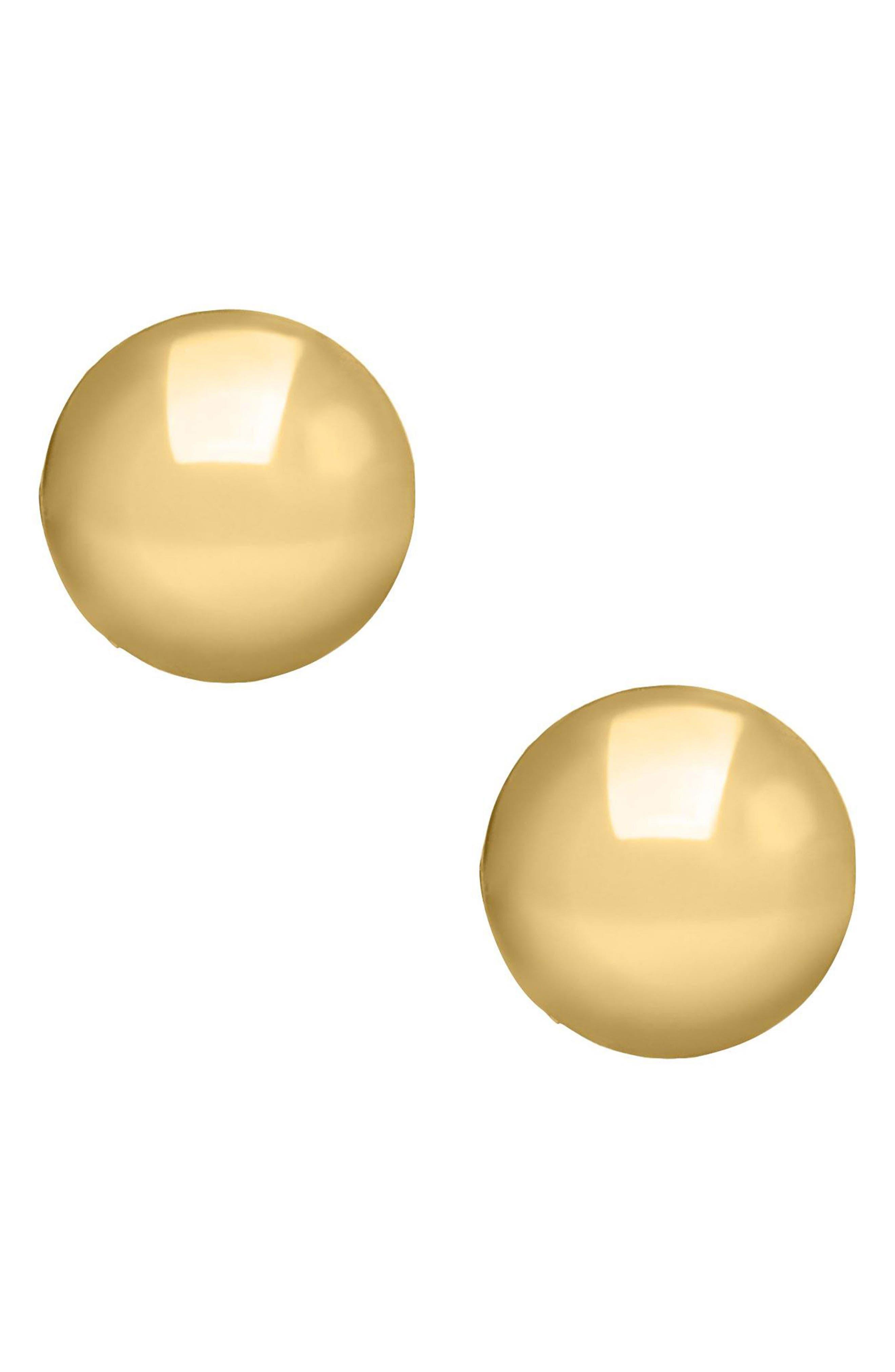 14k Gold Ball Earrings,                         Main,                         color, GOLD