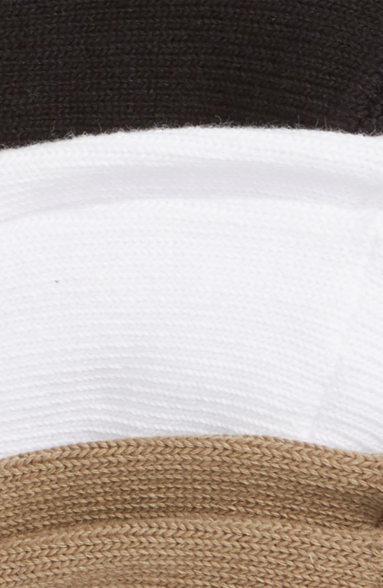 Skimmer 3-Pack Liner Socks,                             Alternate thumbnail 2, color,                             BLACK/ TAUPE