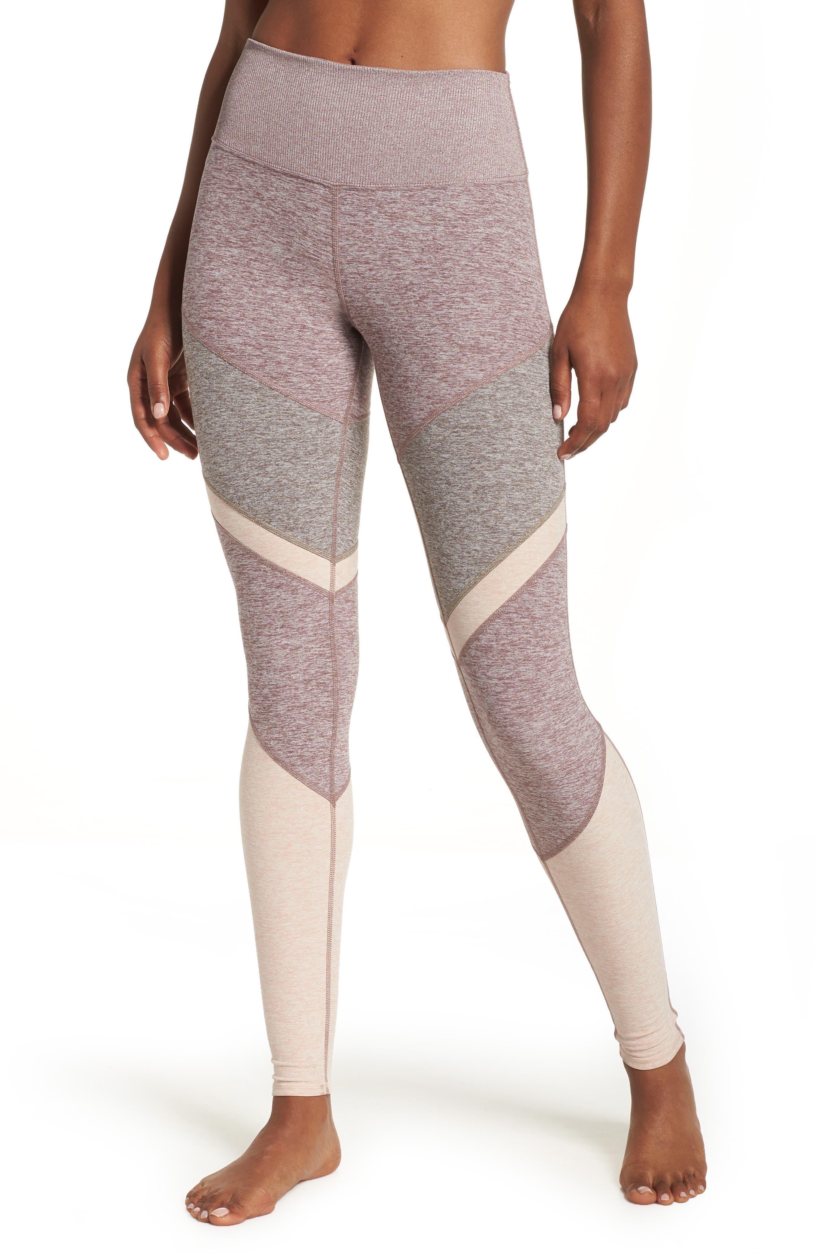 Sheila High Waist Leggings,                         Main,                         color, SMOKY QUARTZ/ GRAVEL/ NECTAR