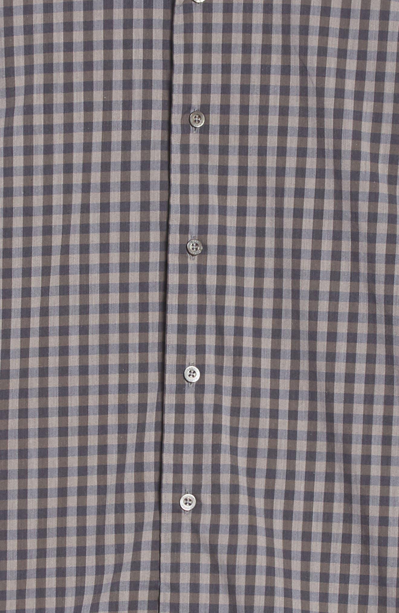 Regular Fit Stretch Check Sport Shirt,                             Alternate thumbnail 7, color,                             200