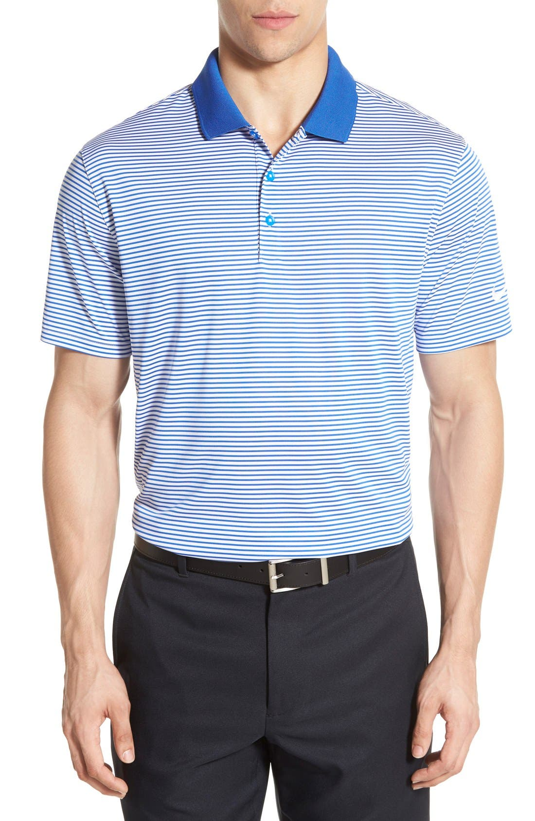 'Victory Stripe' Dri-FIT Golf Polo,                             Main thumbnail 6, color,